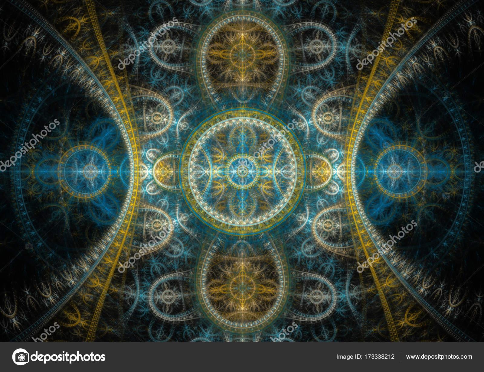 Elegant mechanical fractal — Stock Photo © cappa #173338212