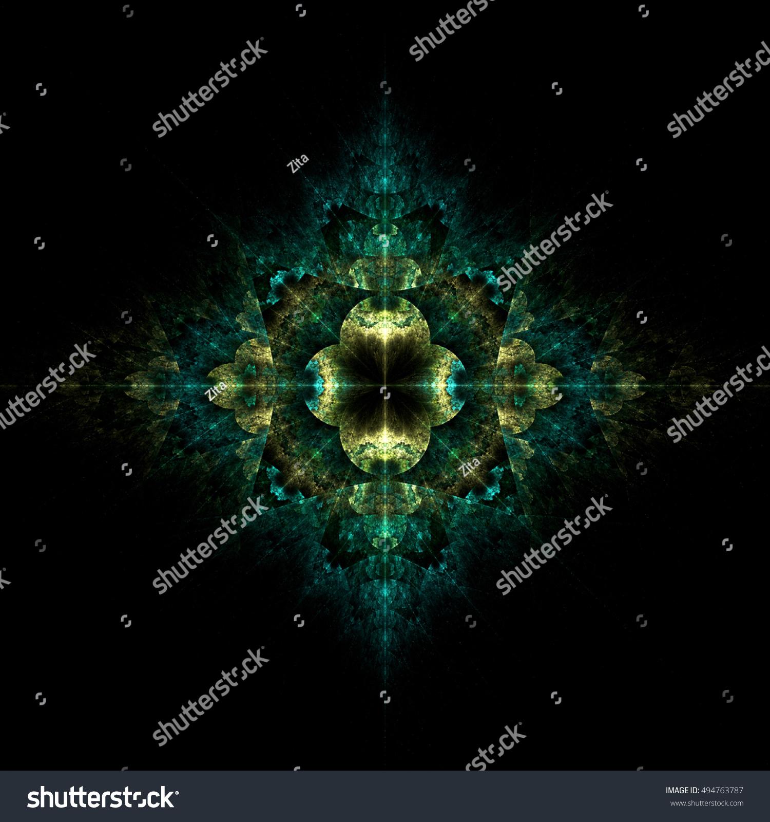 Elegant fractal background photo