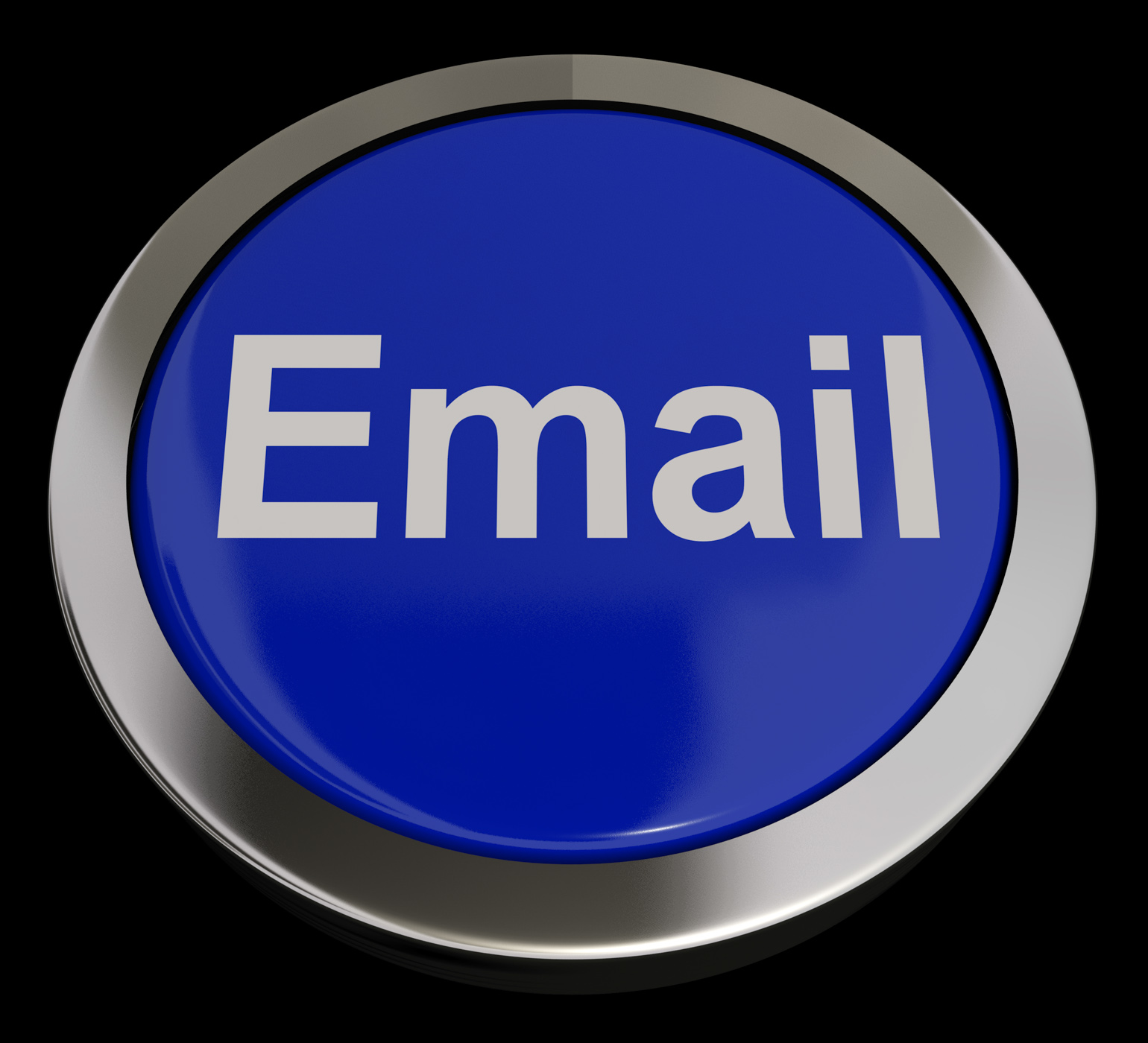 Email Button In Blue For Emailing Or Contacting, Communicate, Mailing, Send, Postal, HQ Photo