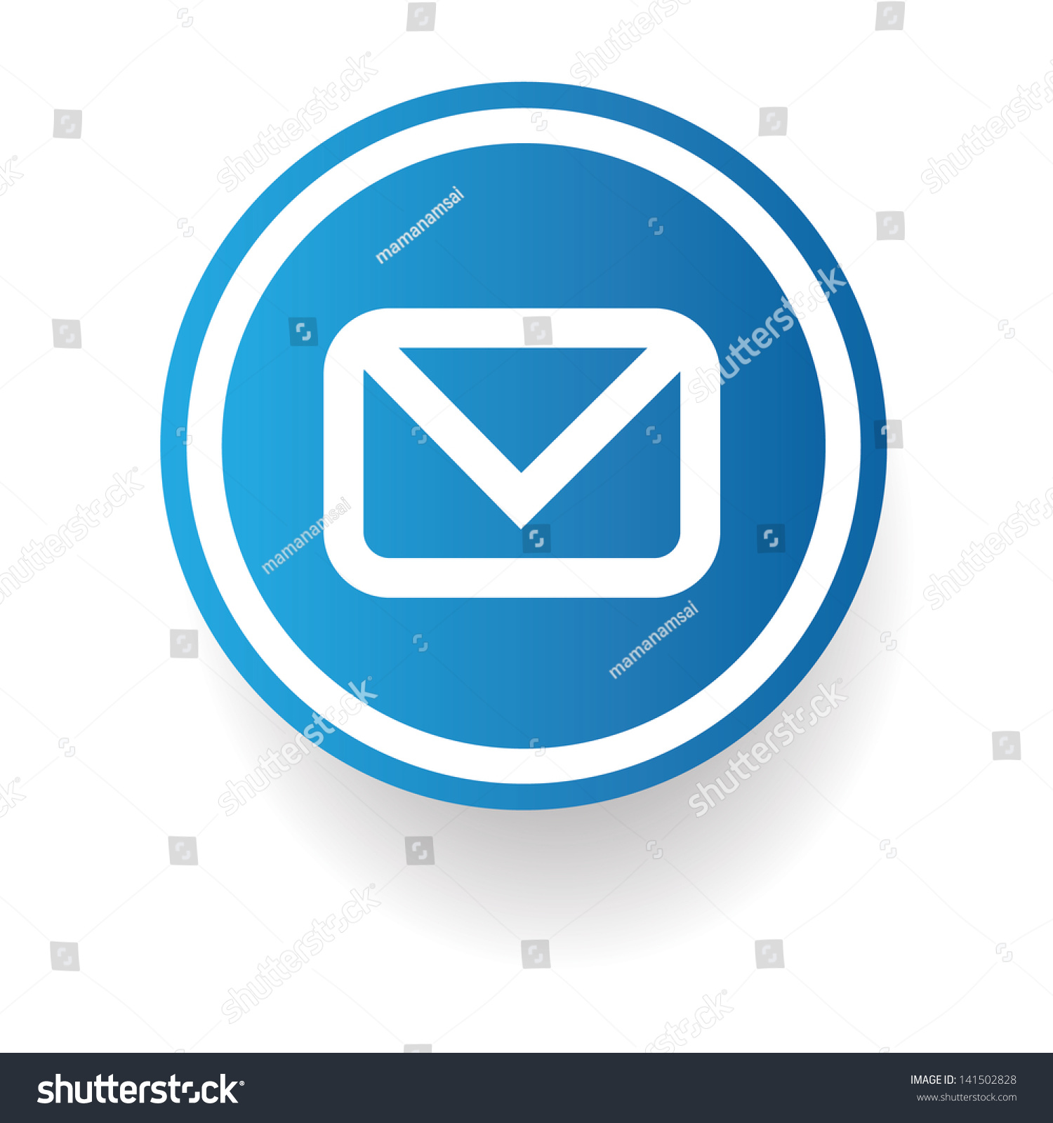 Email Signvector Stock Vector 141502828 - Shutterstock