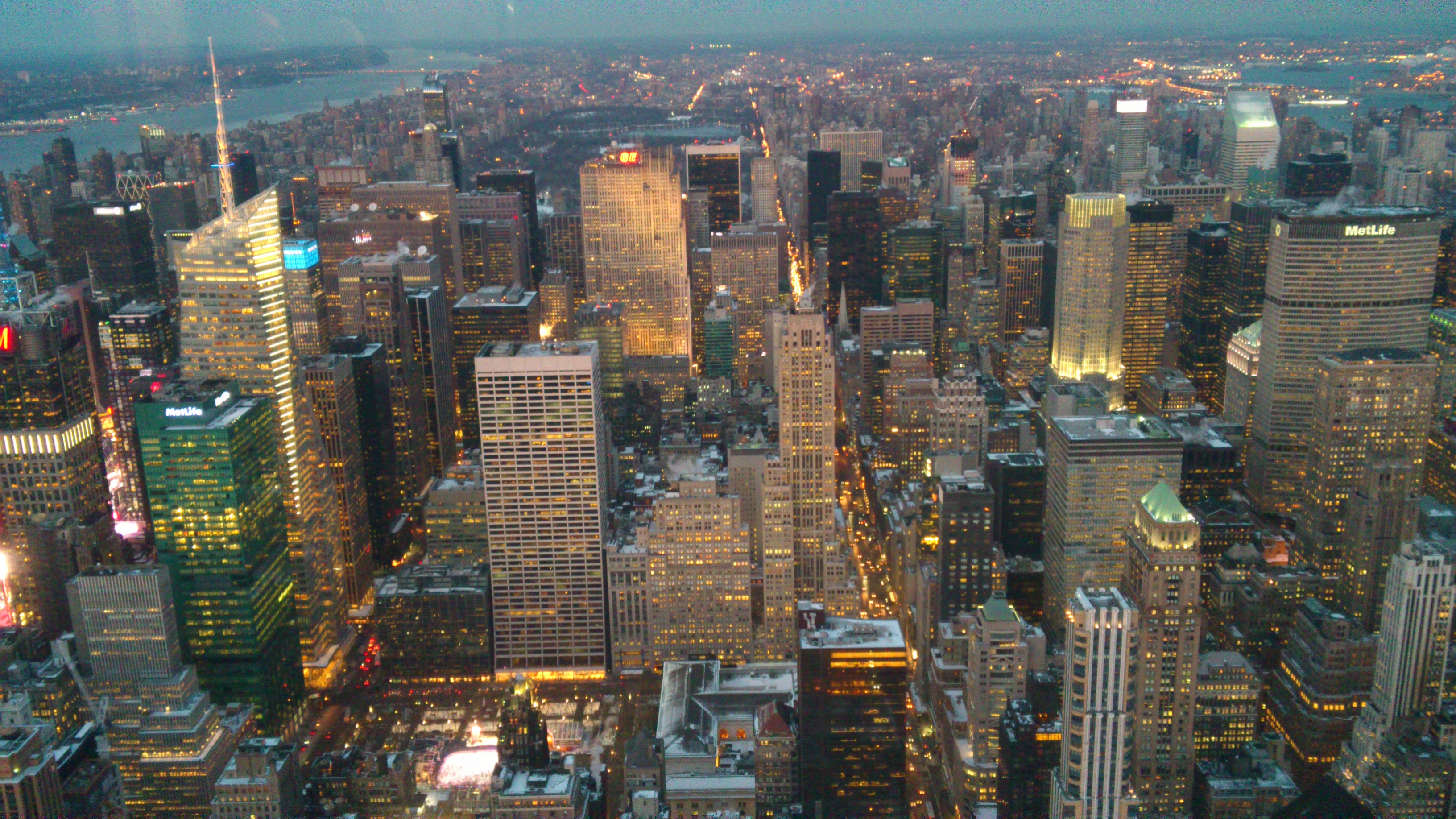 Empire State Building mot central park, Architecture, Nyc, Sunset, Stadt, HQ Photo