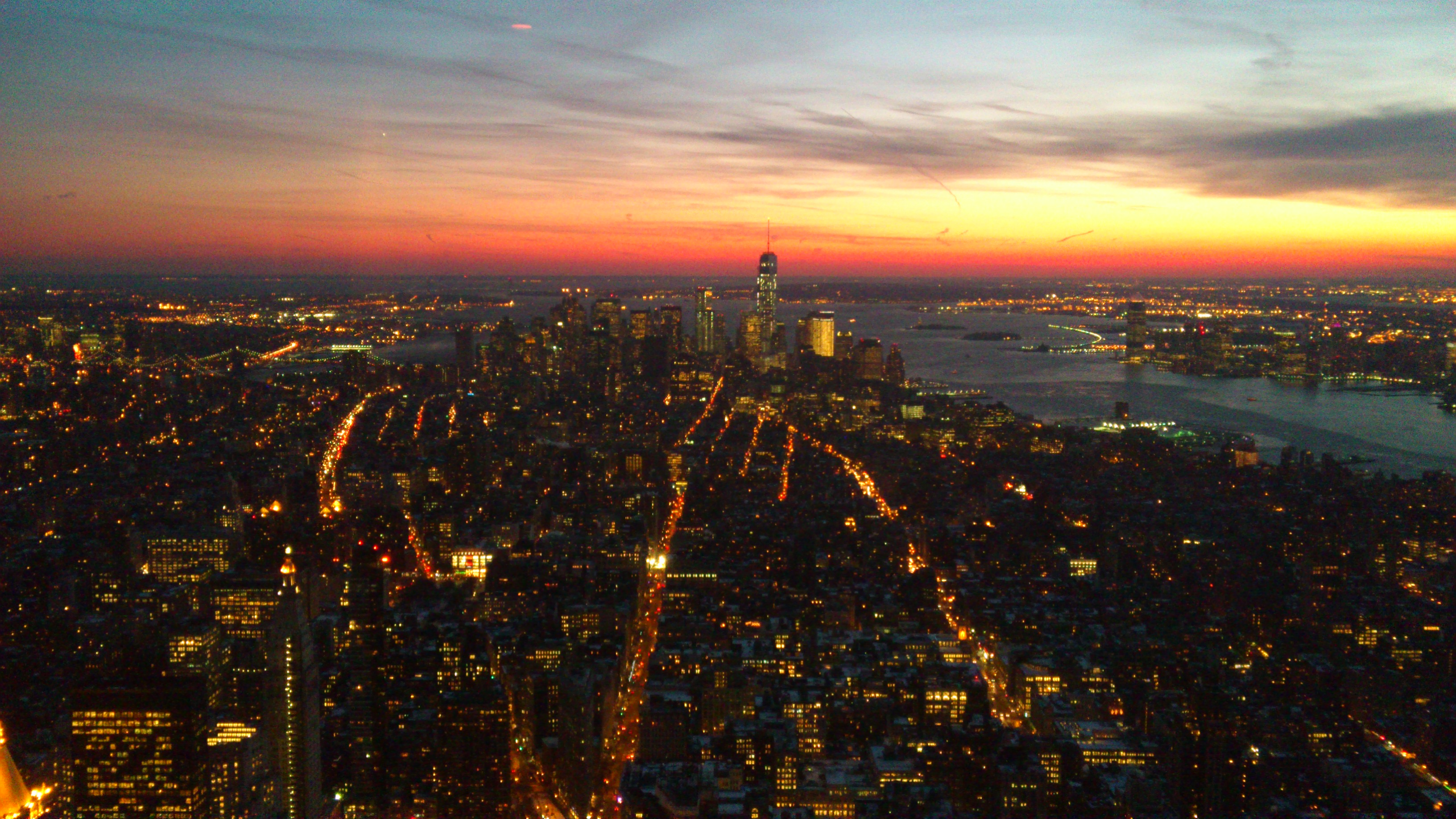Empire State Building mot söder, Architecture, Ny, Sunset, Stadt, HQ Photo