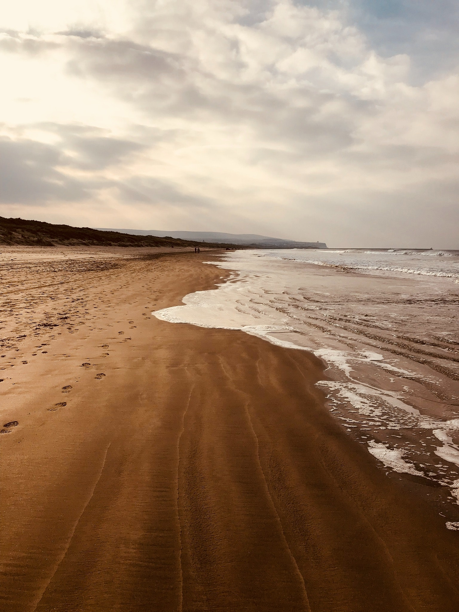Empty brown sand seashore photo