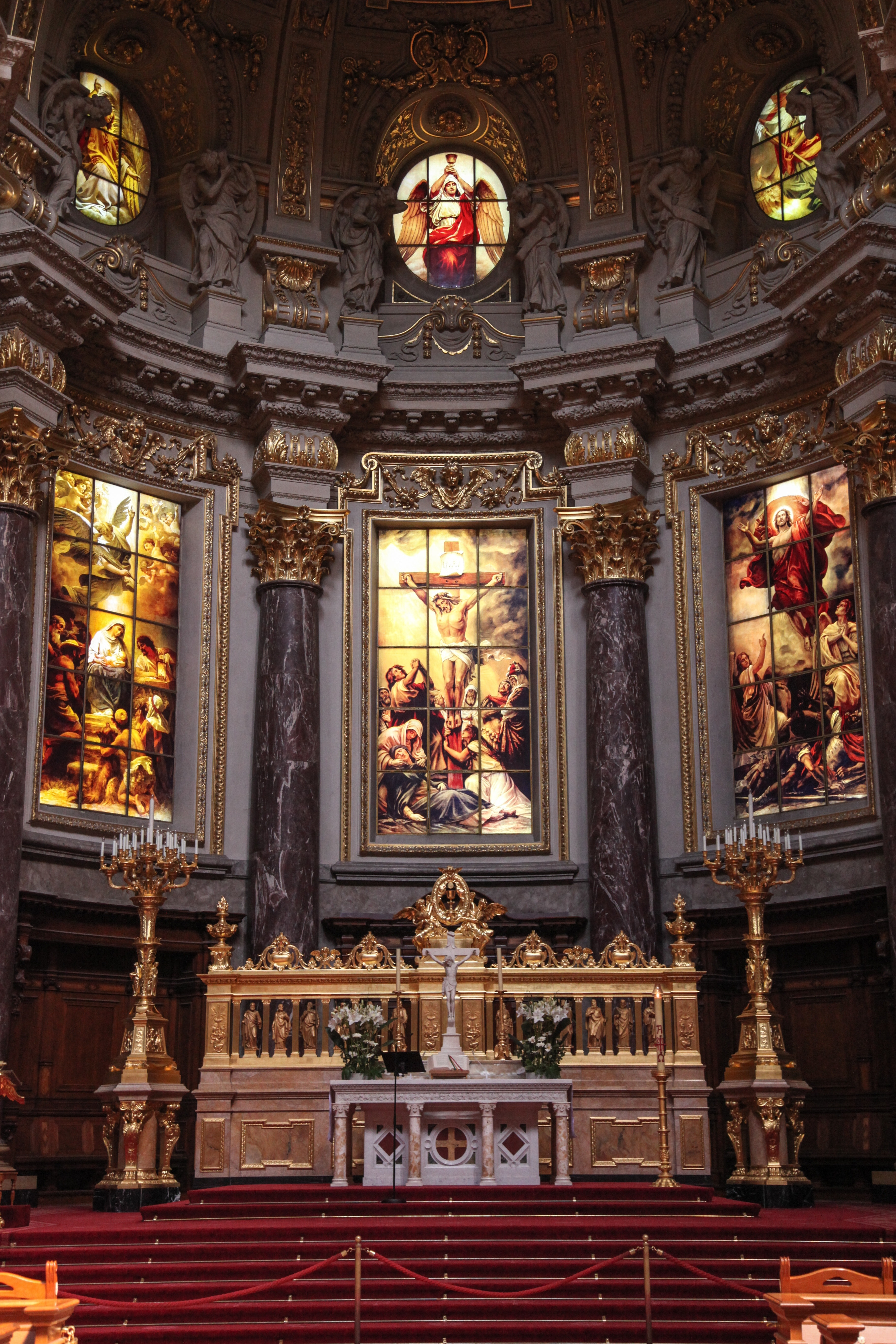 Empty Cathedral Hall, Altar, Architecture, Art, Cathedral, HQ Photo