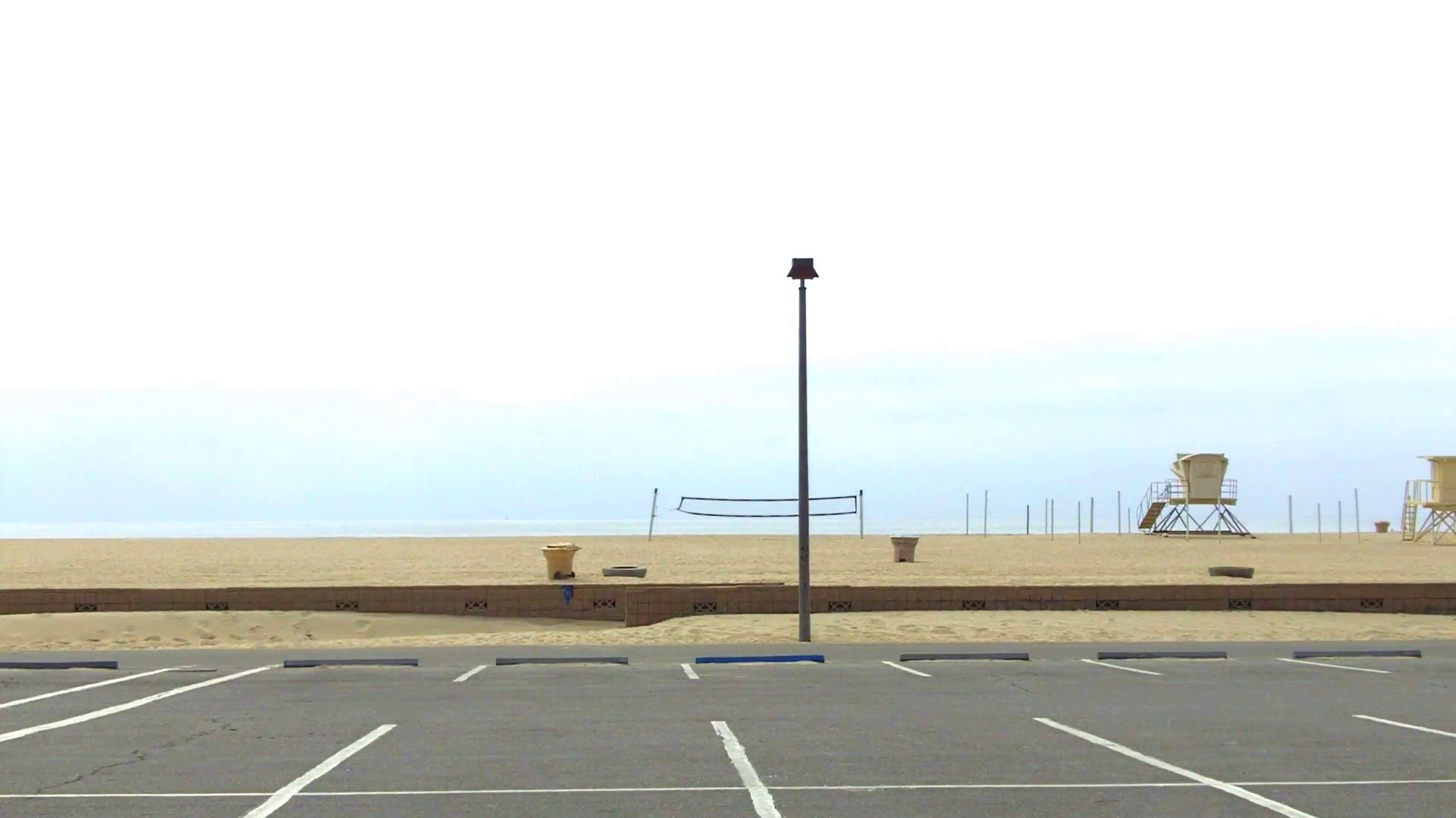 Empty Parking Lot And Beach- Huntington Beach CA Stock Video Footage ...