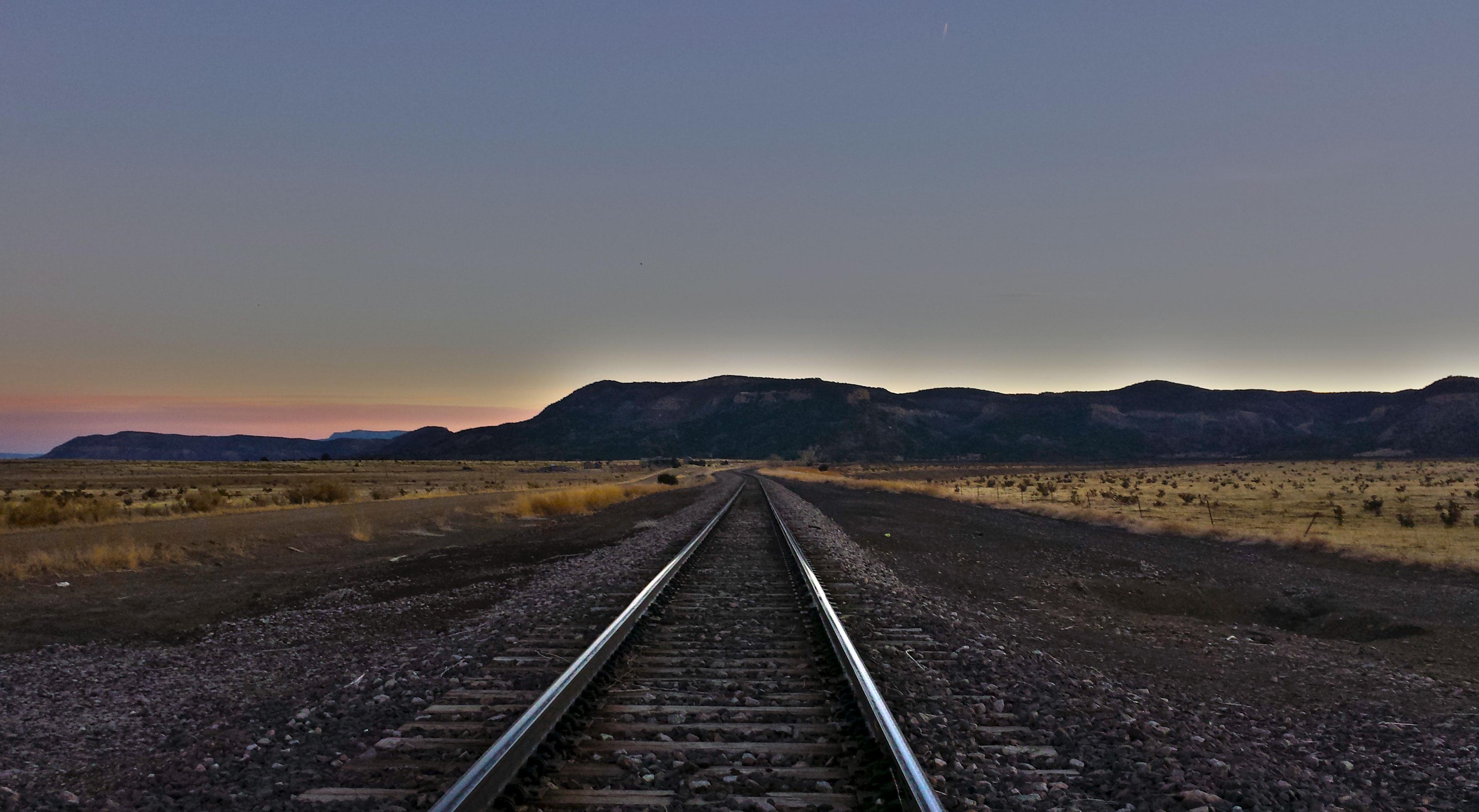 Empty railroad photo