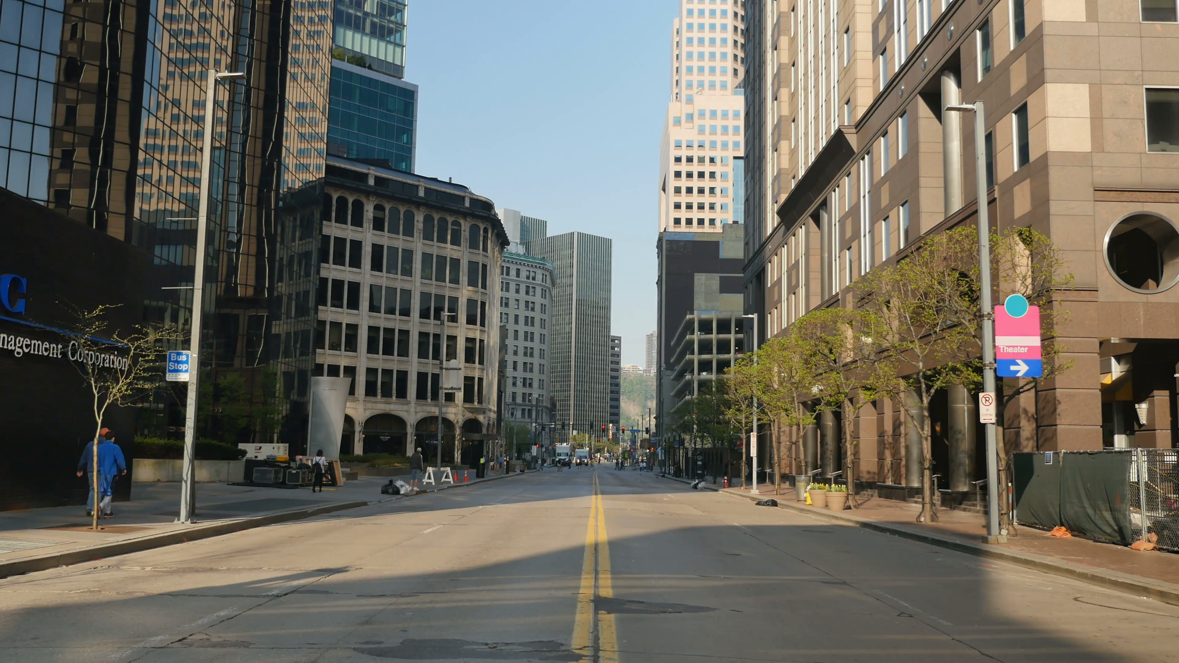 An empty street in downtown Pittsburgh, PA. Stock Video Footage ...