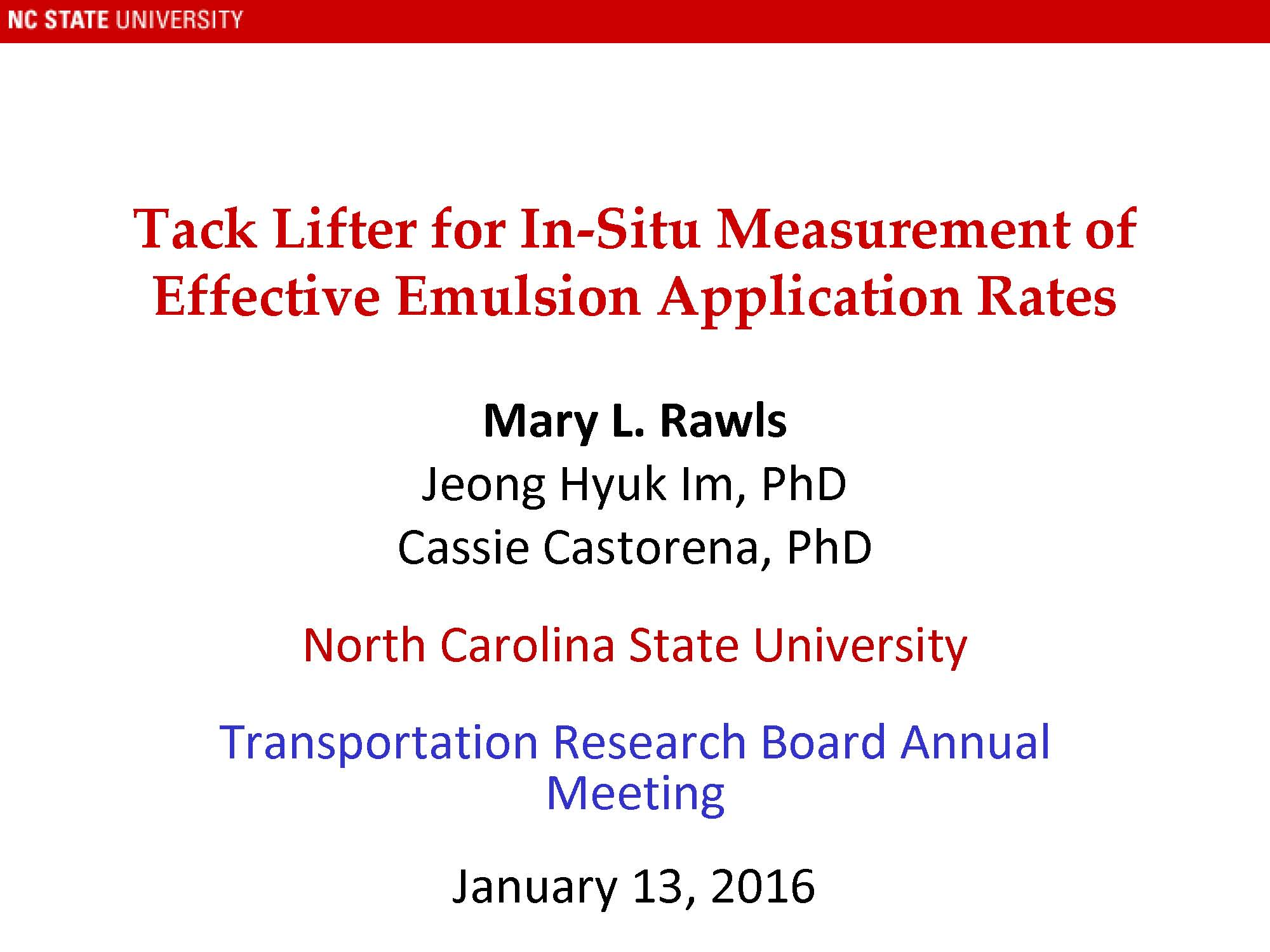 Tack Lifter for In Situ Measurement of Effective Emulsion ...