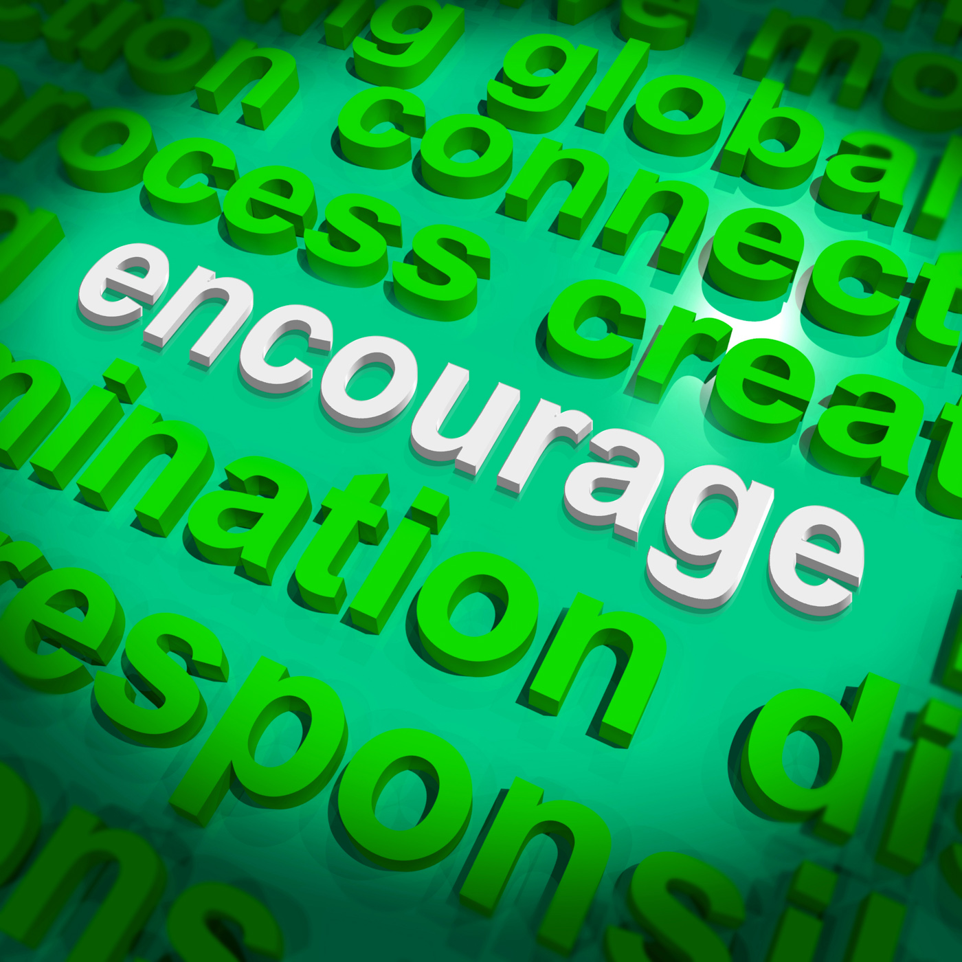 Encourage word cloud shows promote boost encouraged photo