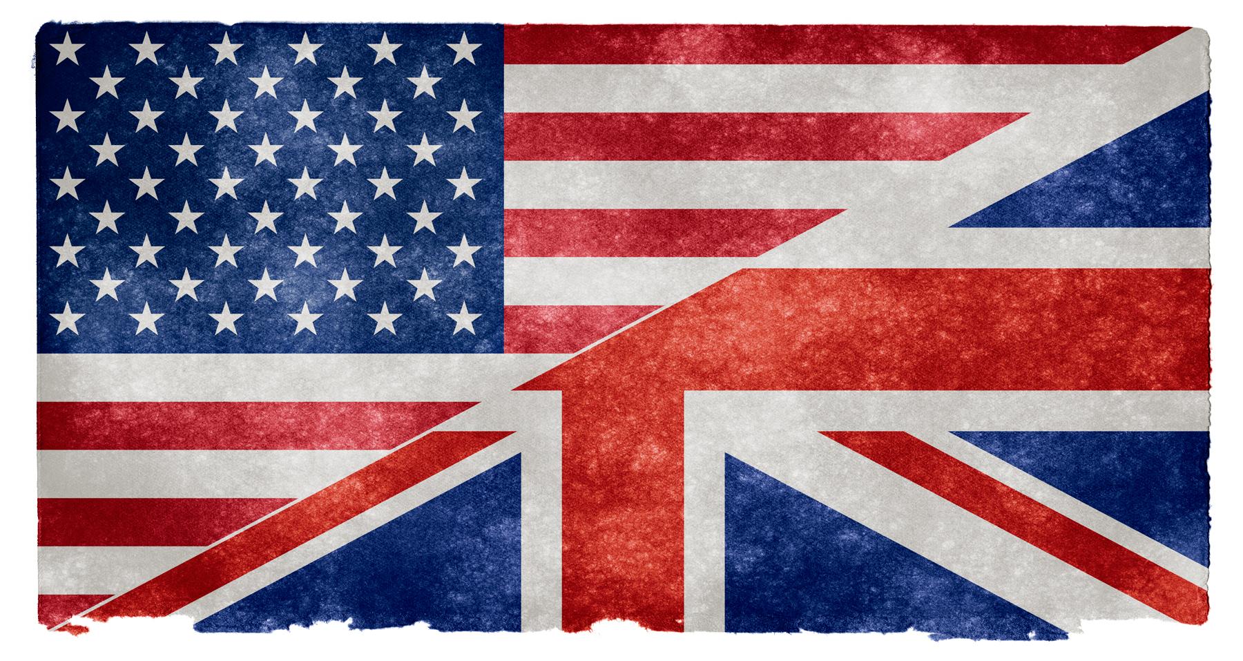 English language grunge flag photo