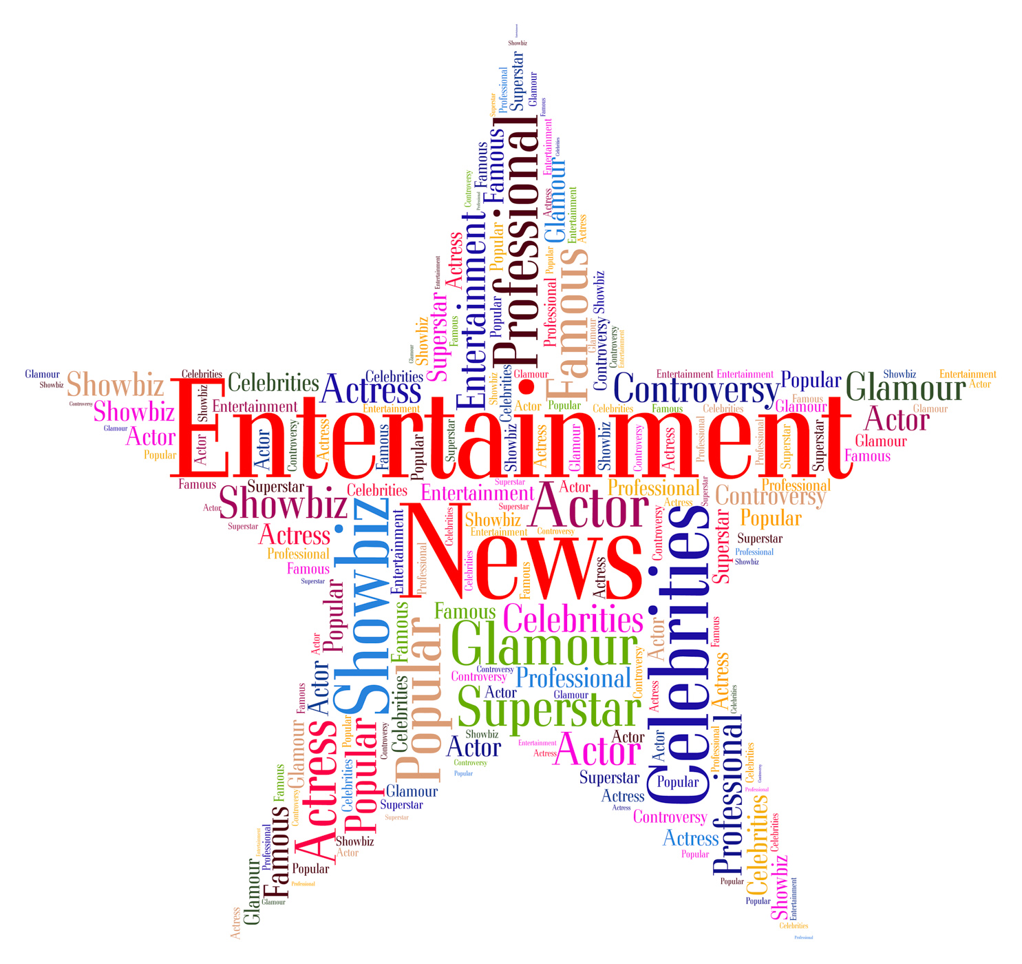 Entertainment News Represents Journalism Performance And Entertainment, Article, News, Wordcloud, Word, HQ Photo