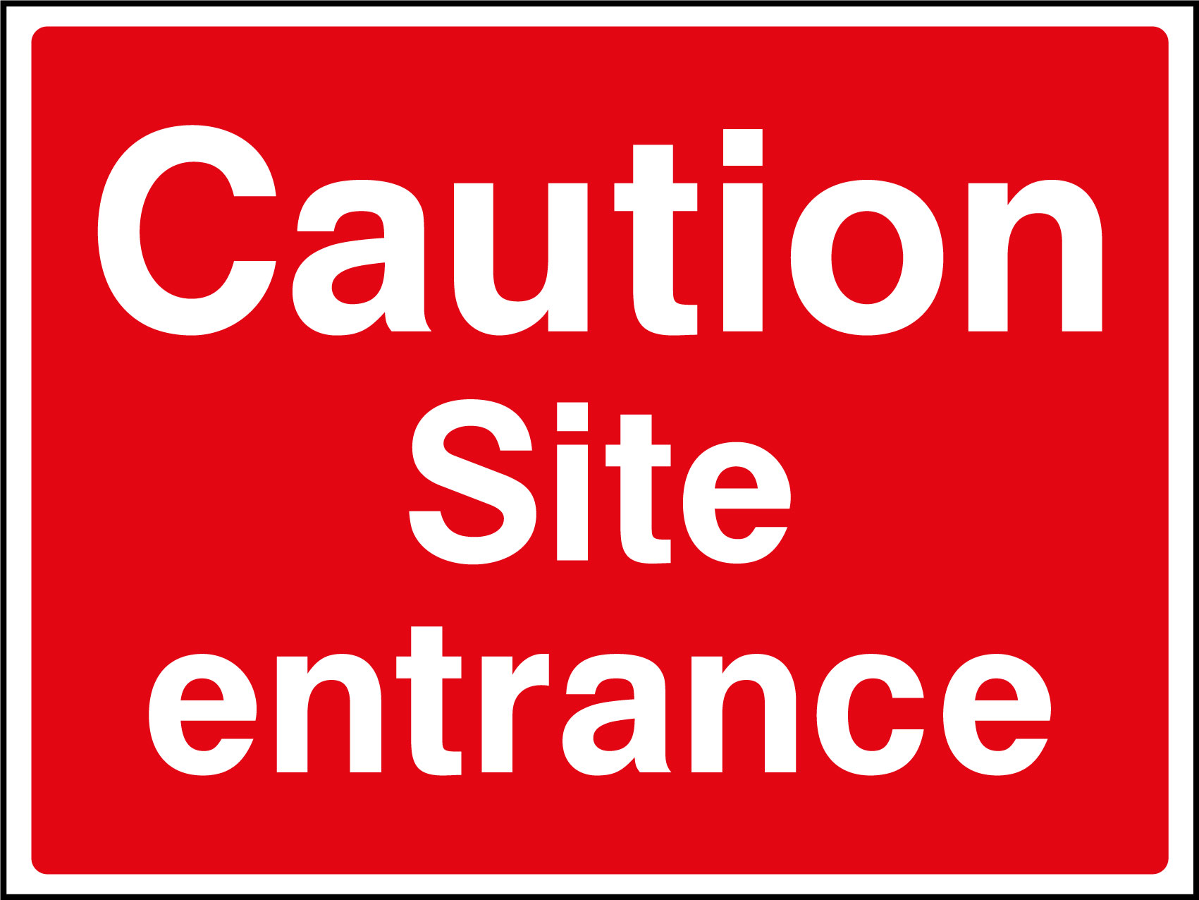 Caution site entrance sign | Health and Safety Signs