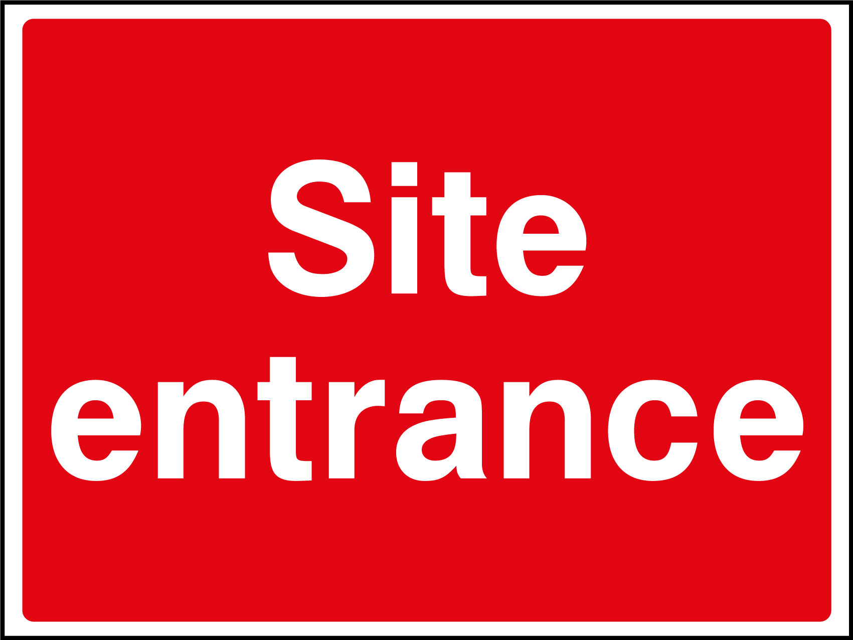 Site entrance sign | Health and Safety Signs
