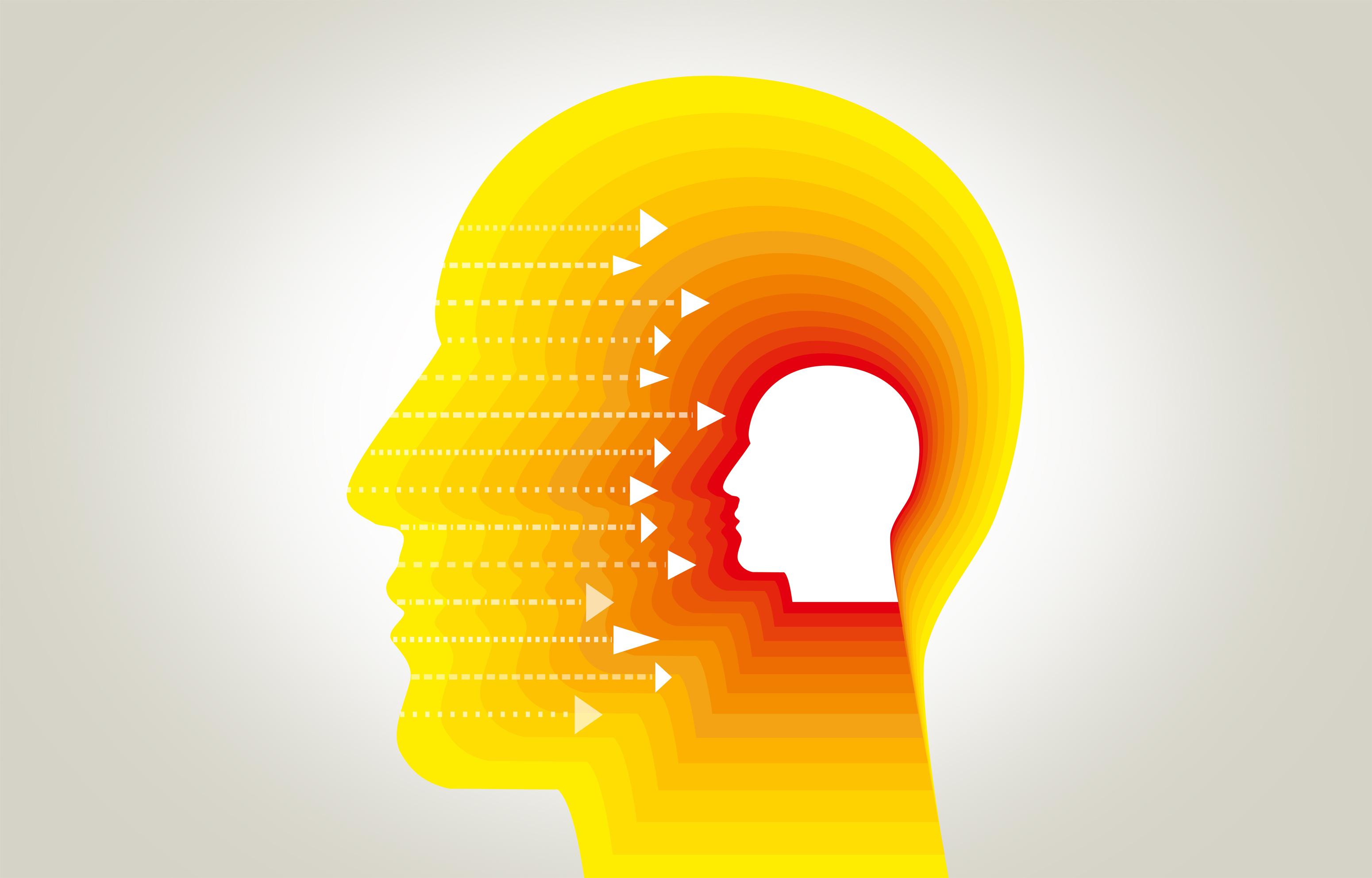 Environmental inputs to the brain - perception concept photo