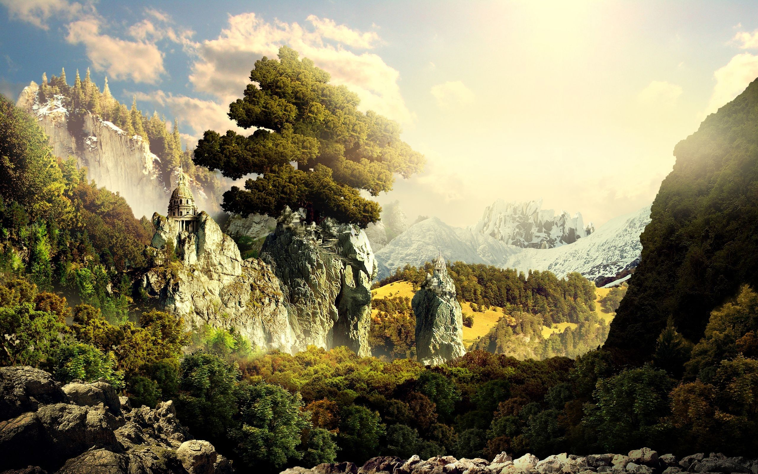2560x1600 3D Landscape desktop PC and Mac wallpaper | zachwycające ...