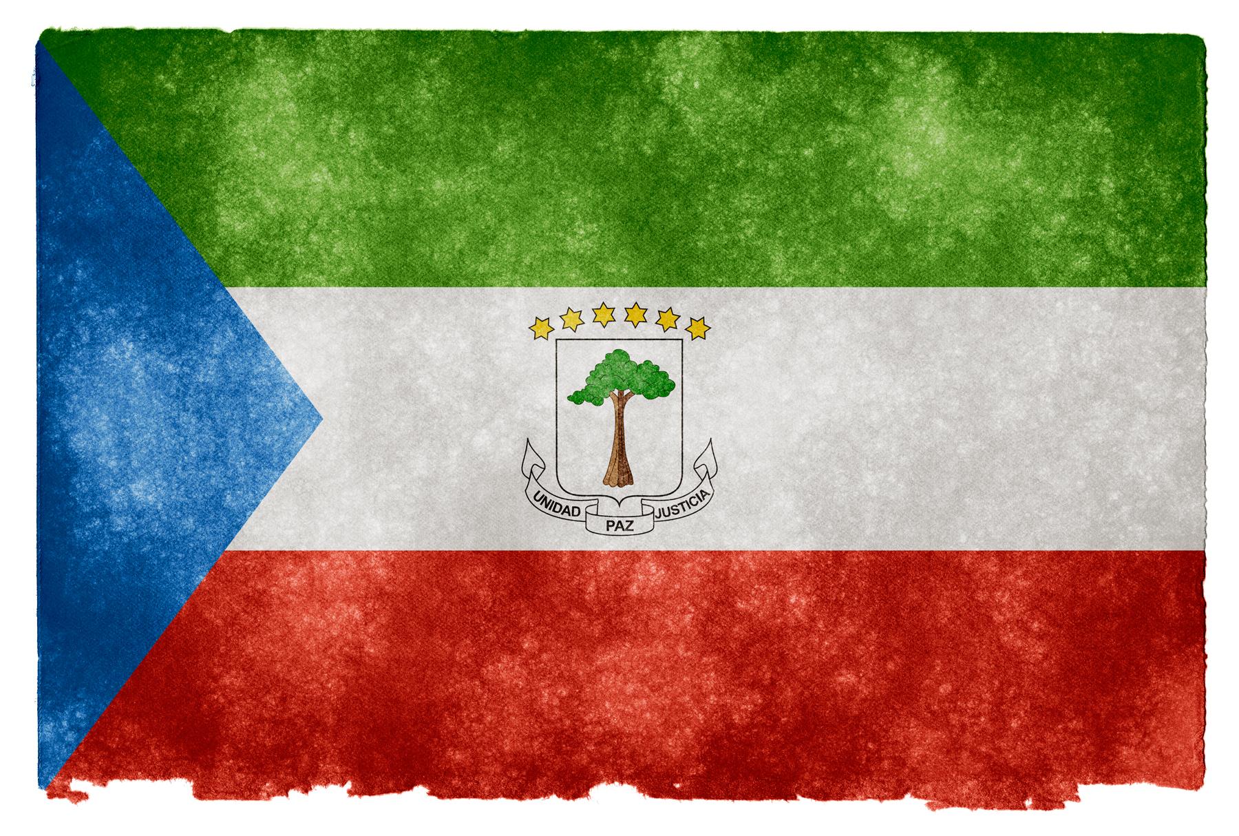 Equatorial guinea grunge flag photo