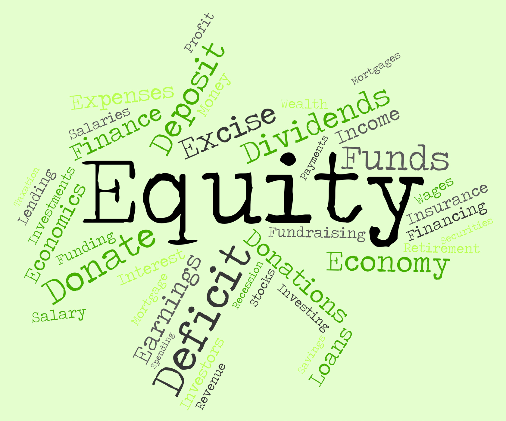 Equity Word Shows Text Riches And Assets, Asset, Assets, Capital, Equity, HQ Photo