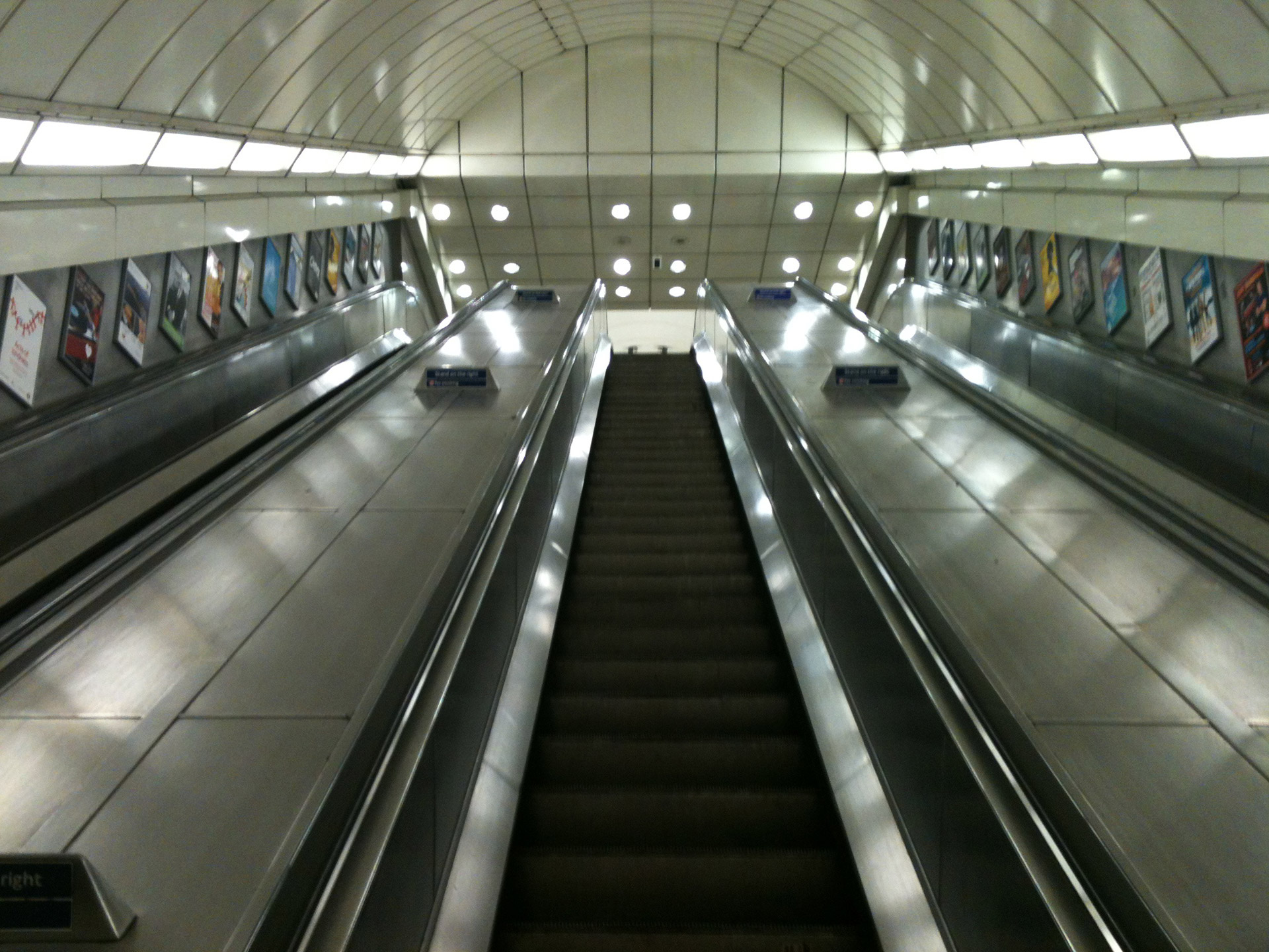 Looking Up An Escalator Free Stock Photo - Public Domain Pictures