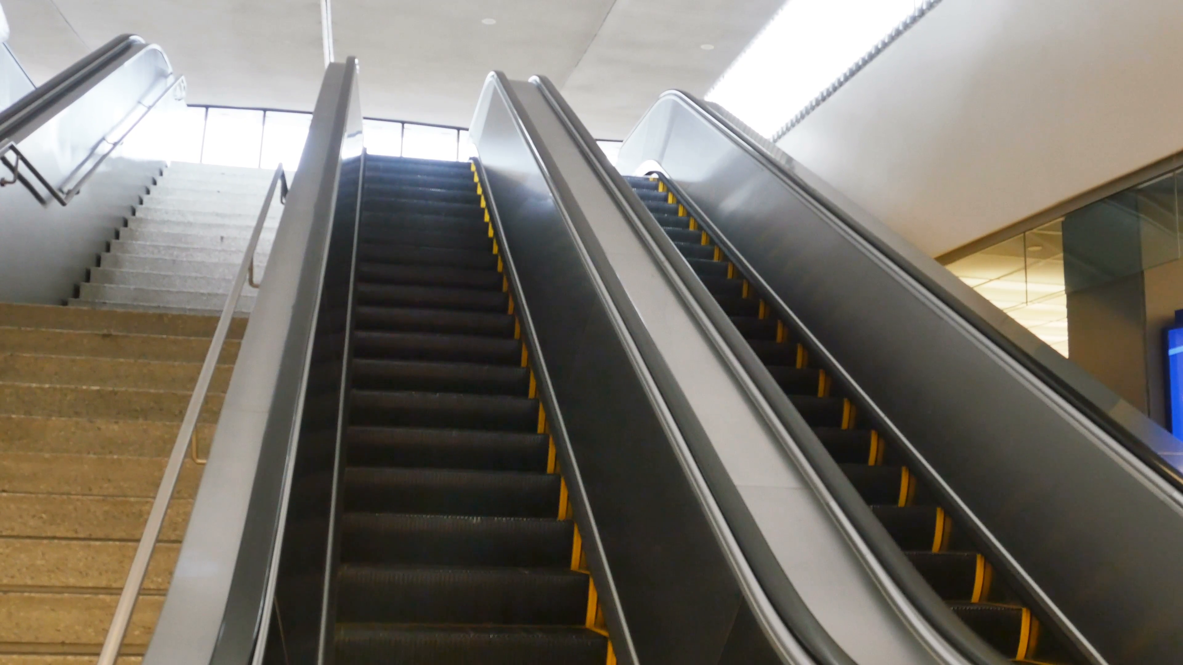 Looking Up Escalator at Airport, 4K Stock Video Footage - VideoBlocks