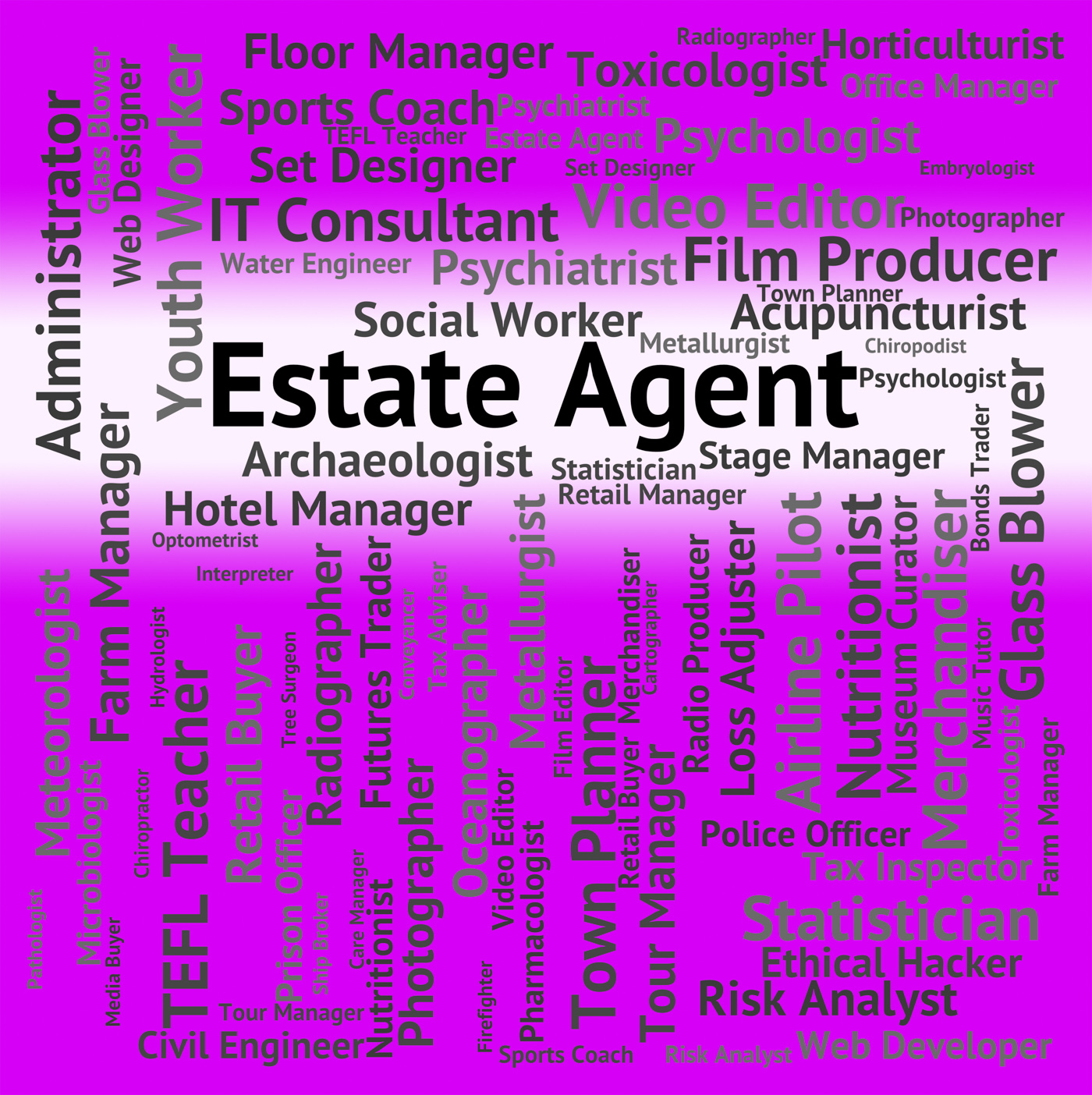 Estate Agent Represents Word Jobs And Work, Agent, Occupations, Words, Word, HQ Photo