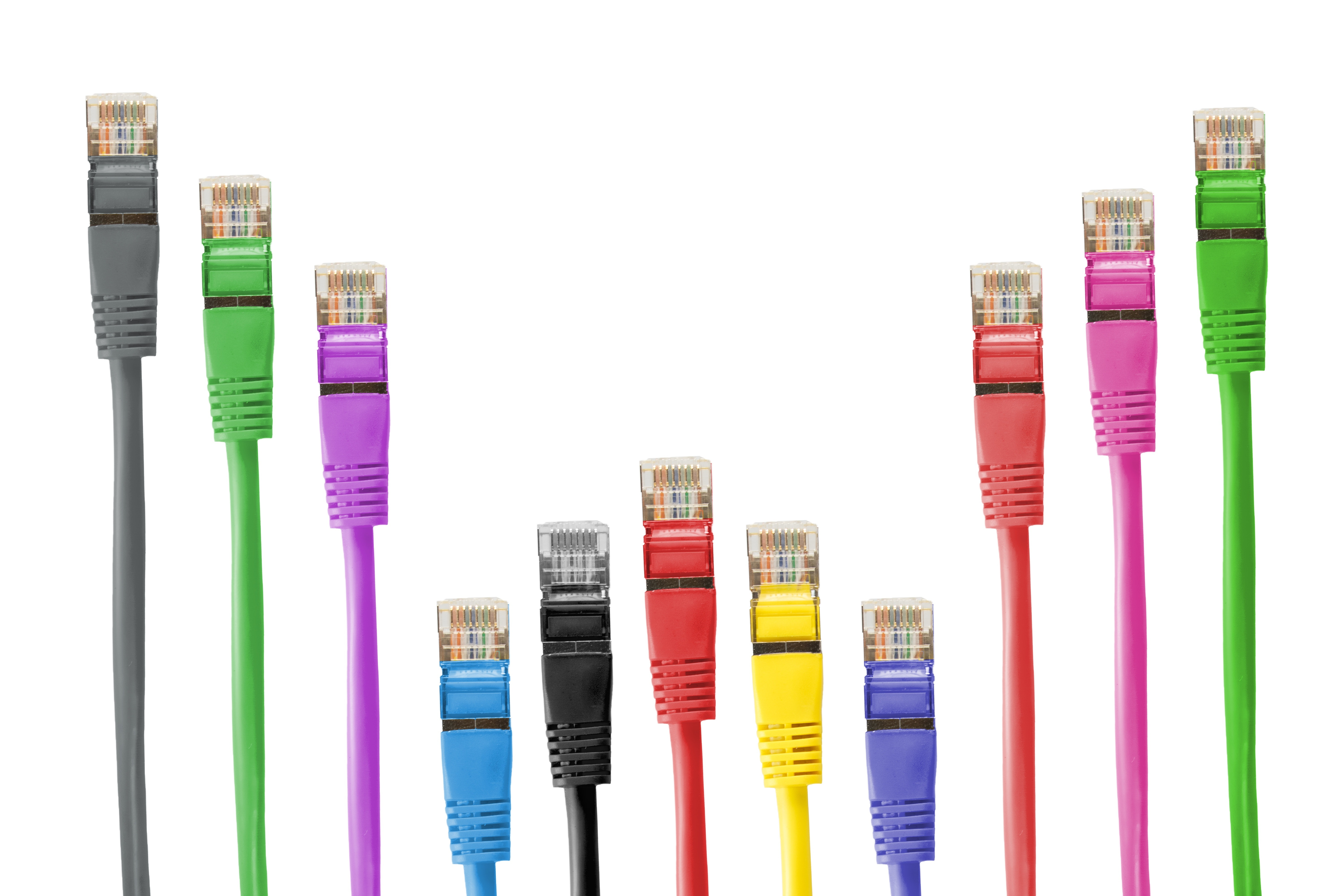 Free stock photo of cable, cat-5e, colorful