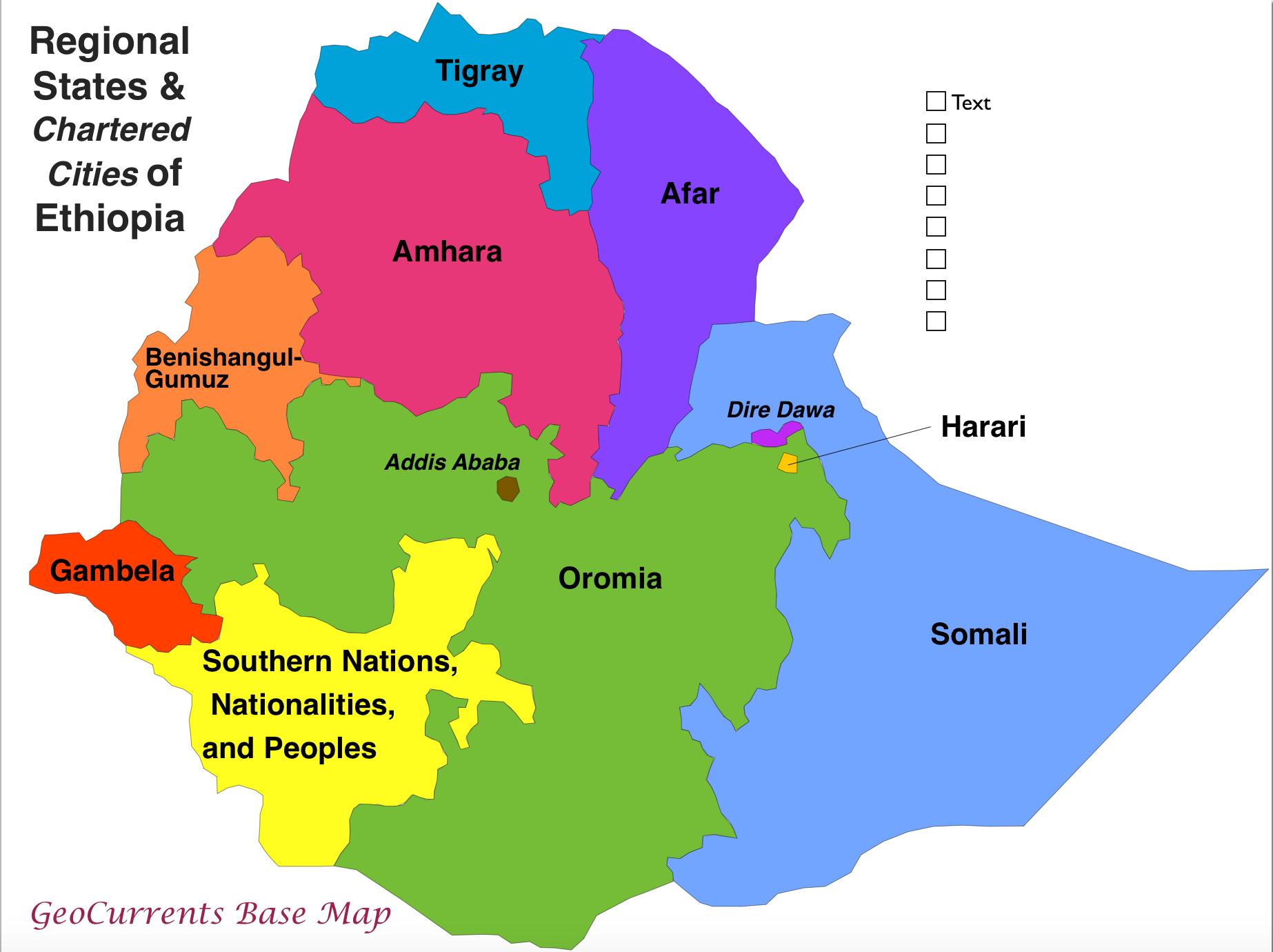 GeoCurrents Maps of Ethiopia | GeoCurrents