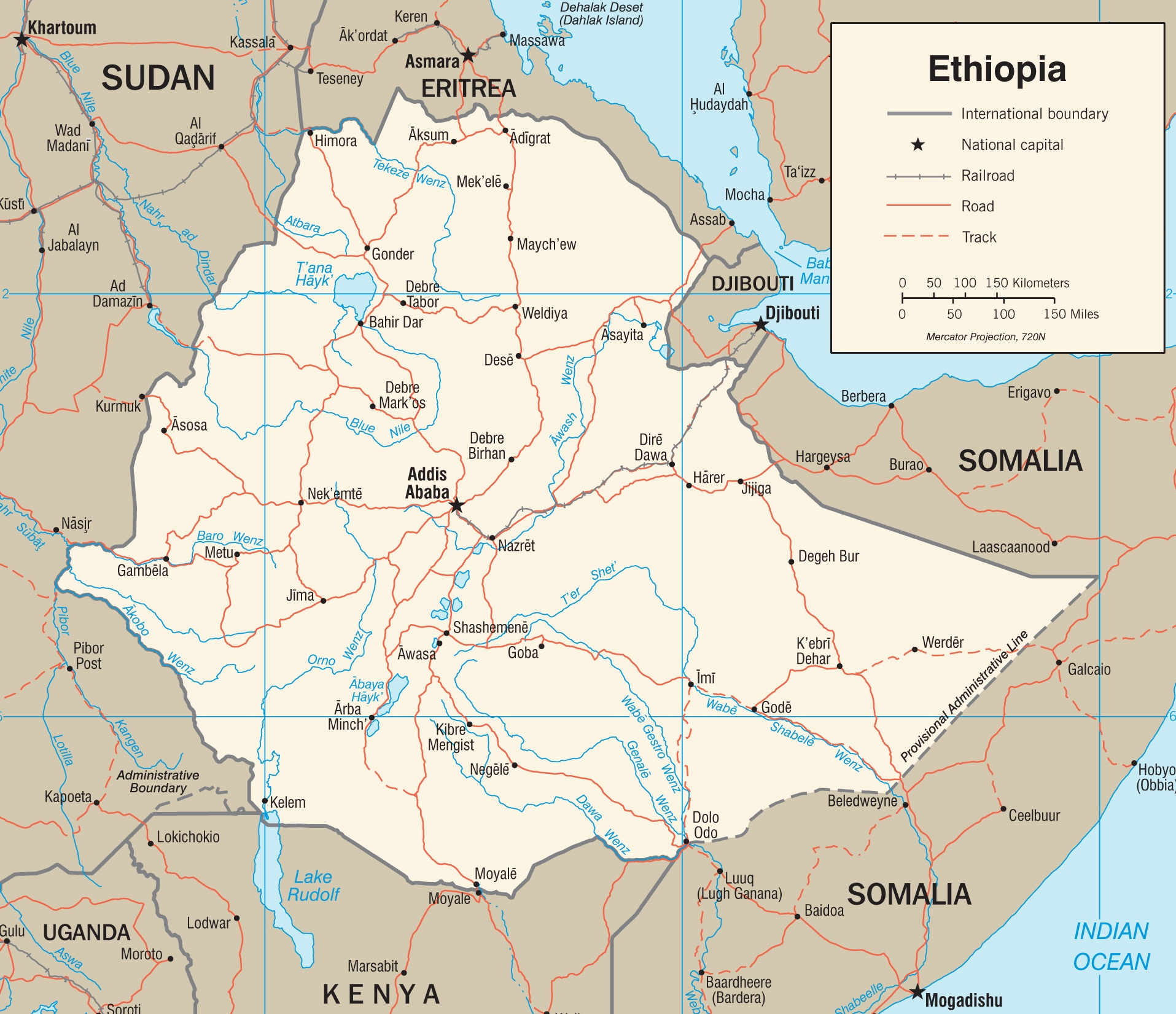 Ethiopia Maps | Maps of Ethiopia