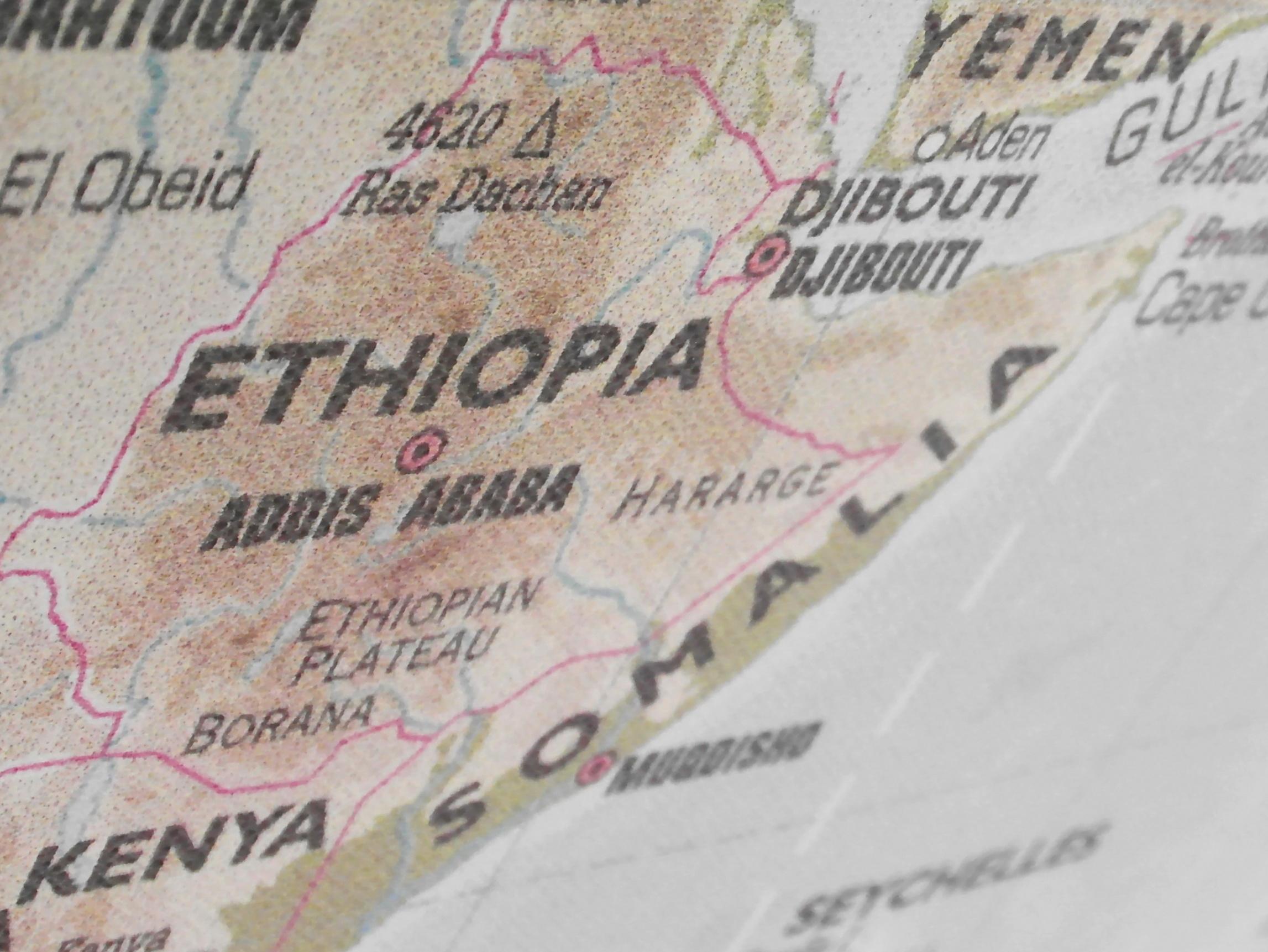 Ethiopia Map, Africa, African, Atlas, Cities, HQ Photo