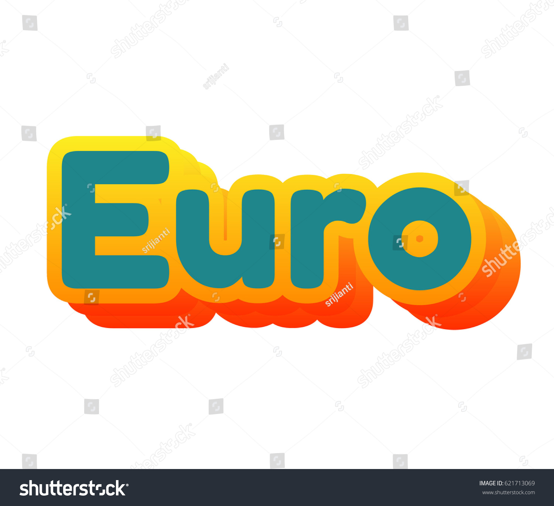 Euro 3d text photo