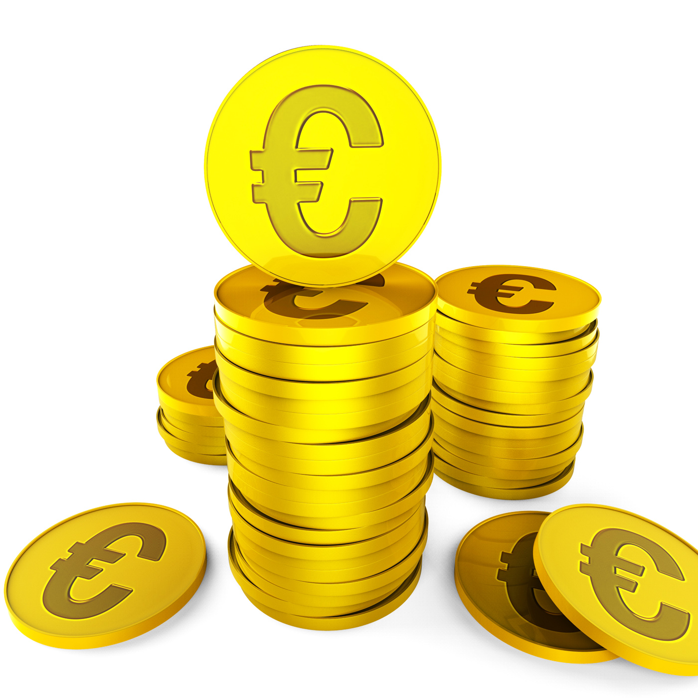 Euro savings represents european euros and money photo