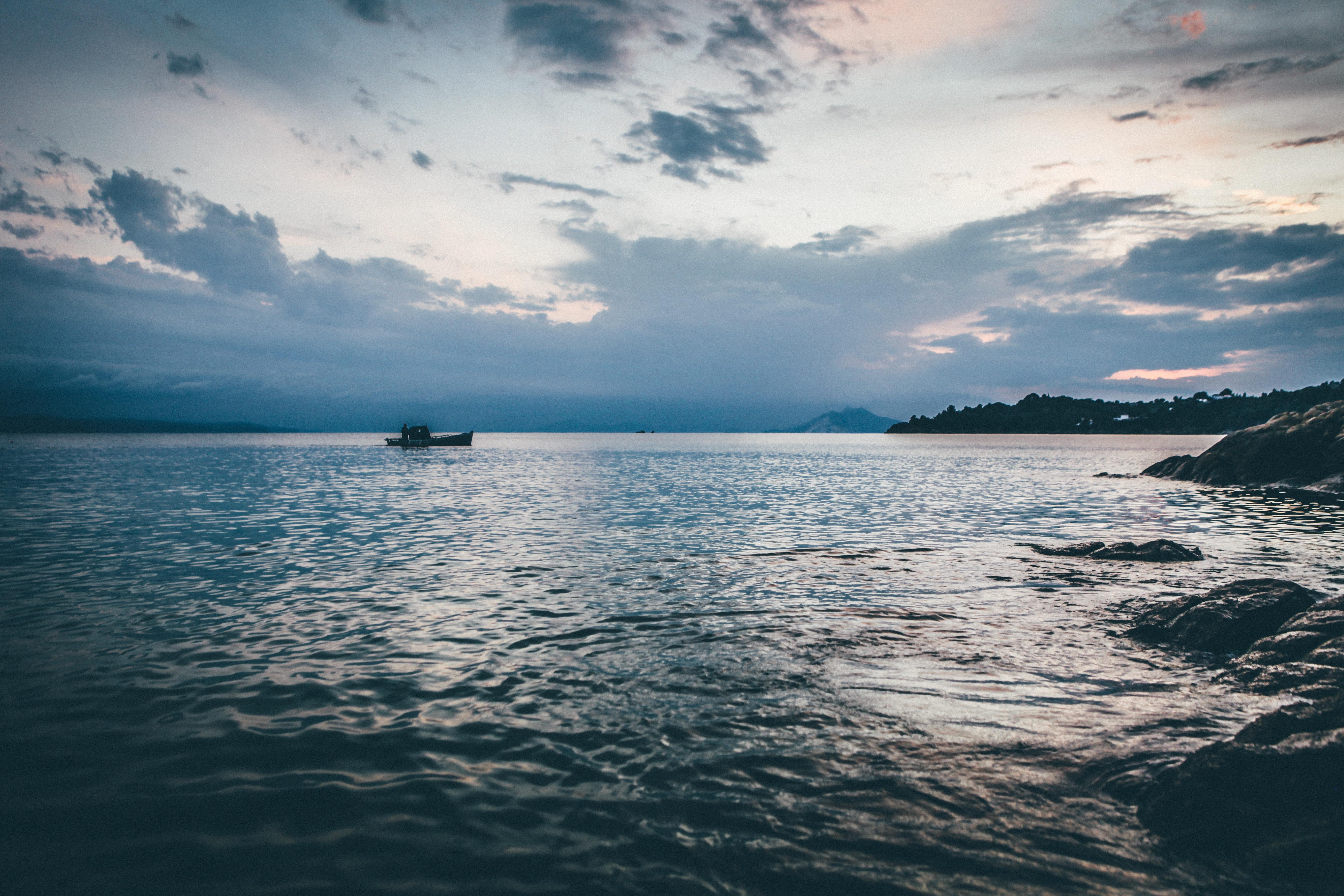Evening, Beach, Flow, Landscape, Nature, HQ Photo