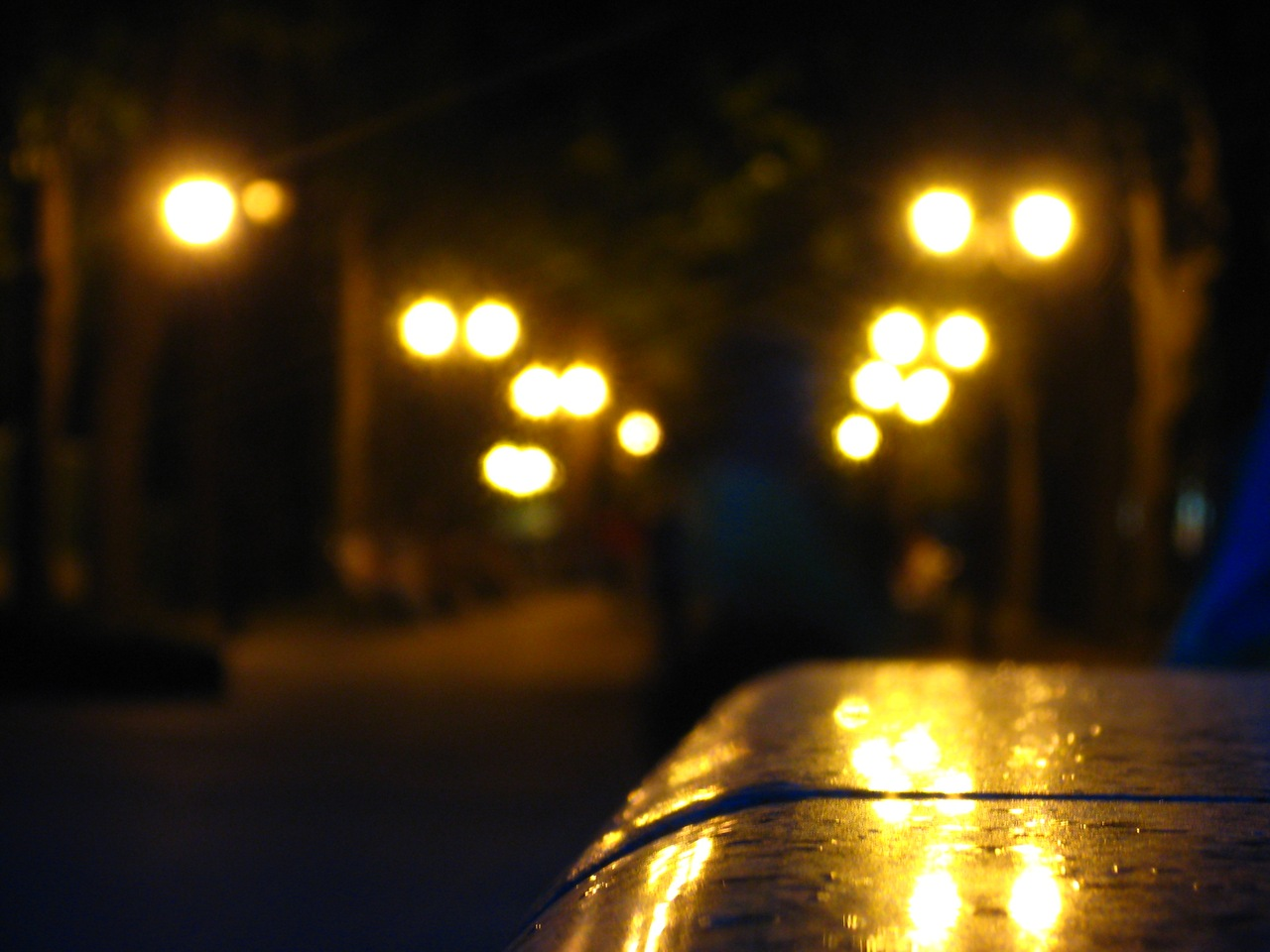 Evening lights, Blur, Bokeh, Evening, Lights, HQ Photo