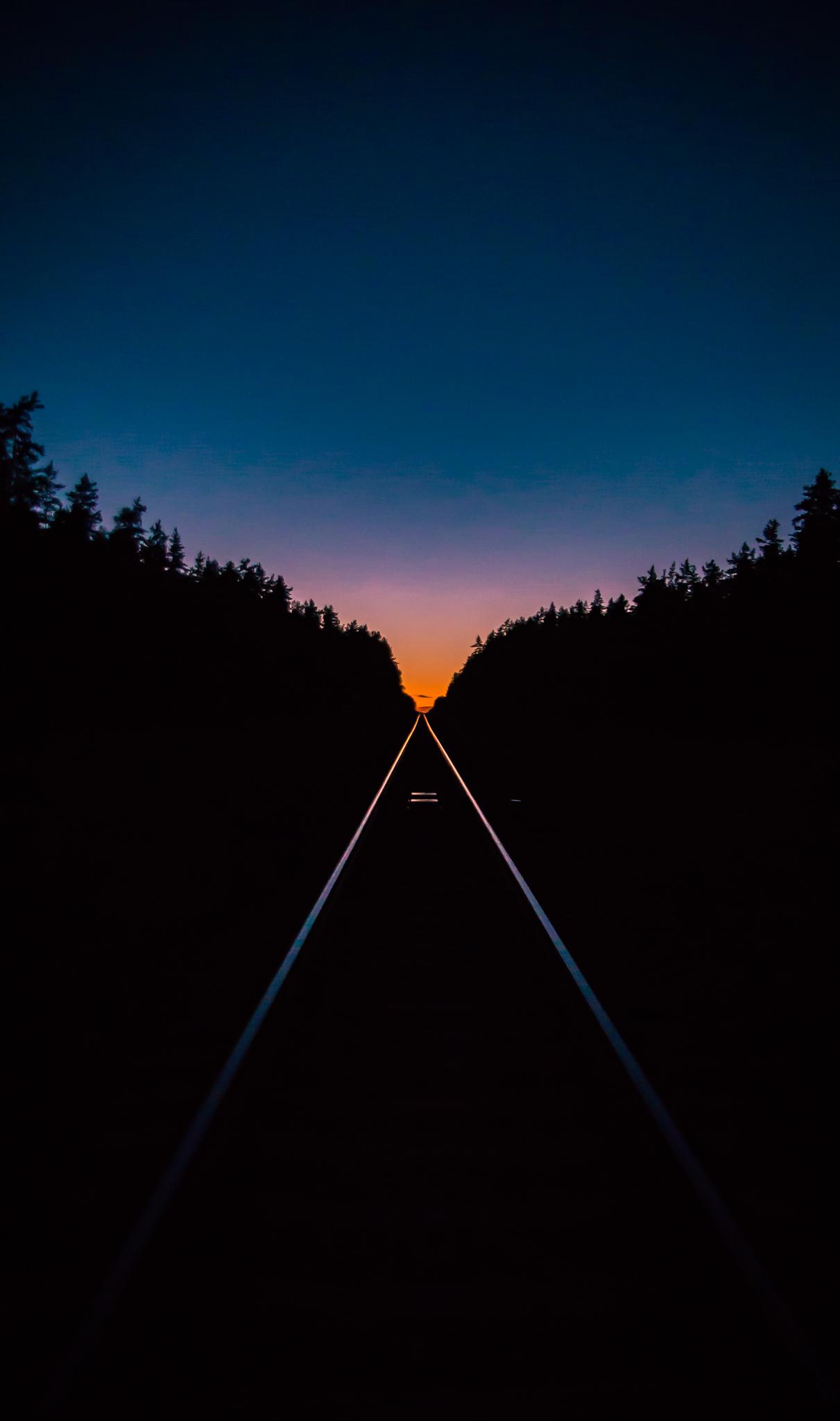 This evening railway - Imgur