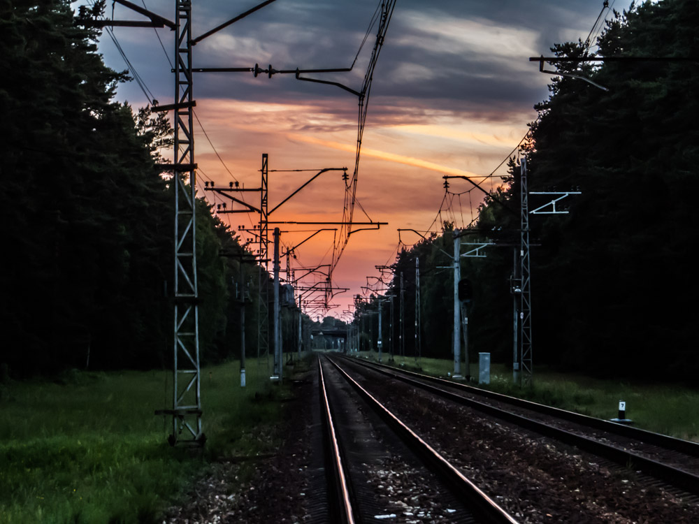 Evening railroad, 2013, Evening, Latvia, Rail, HQ Photo