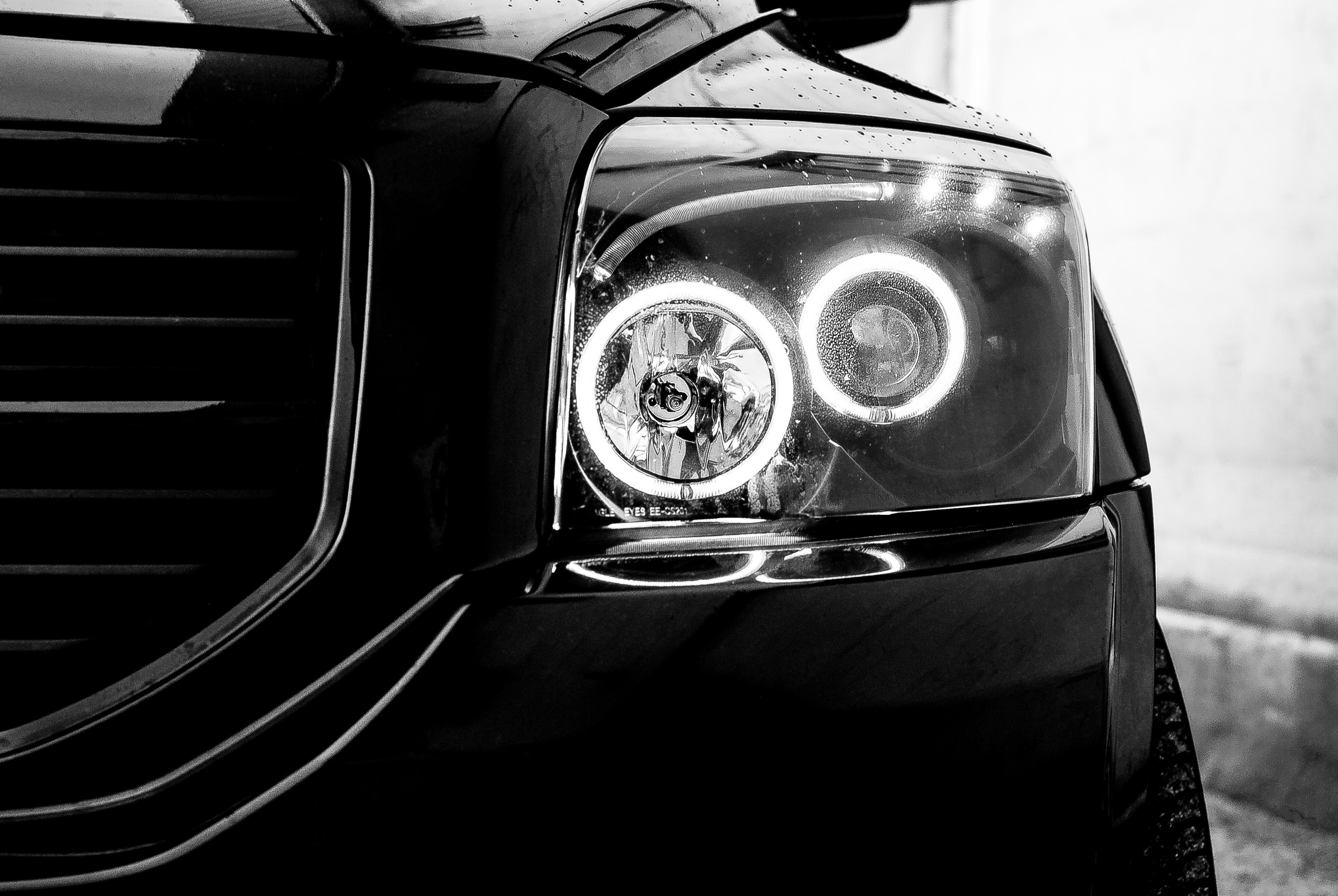 Evil eyes, Automobile, Black, Car, Headlights, HQ Photo