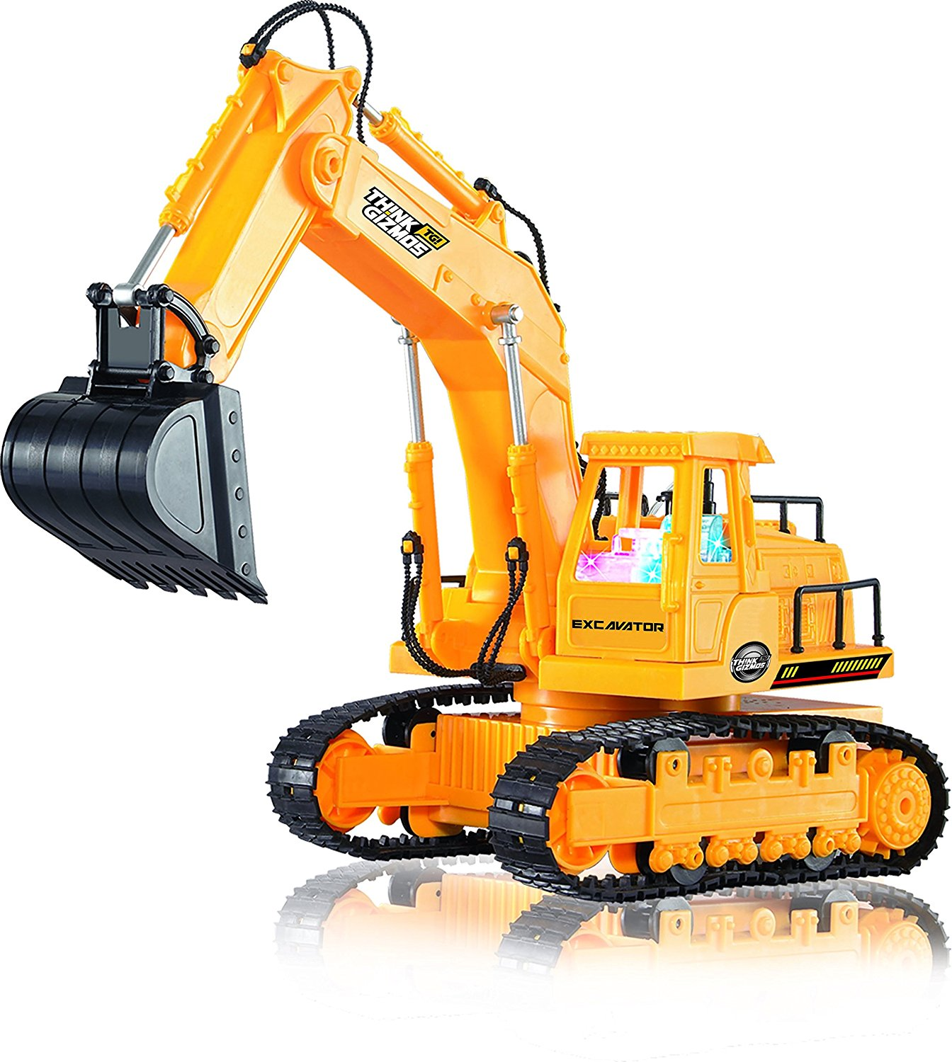 Amazon.com: Remote Control Toy Excavator Construction Vehicle TG643 ...