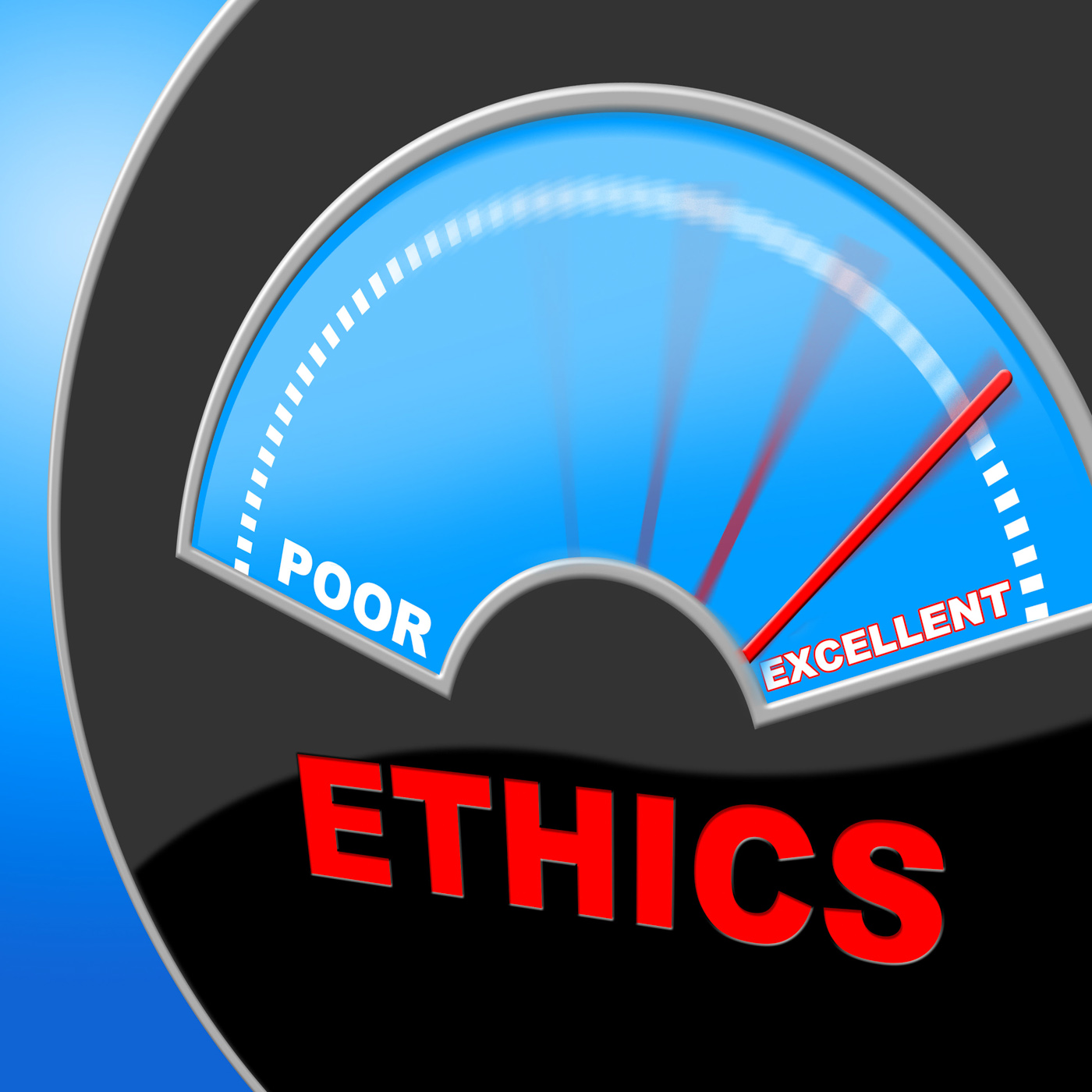 Excellent ethics shows moral principles and excellency photo