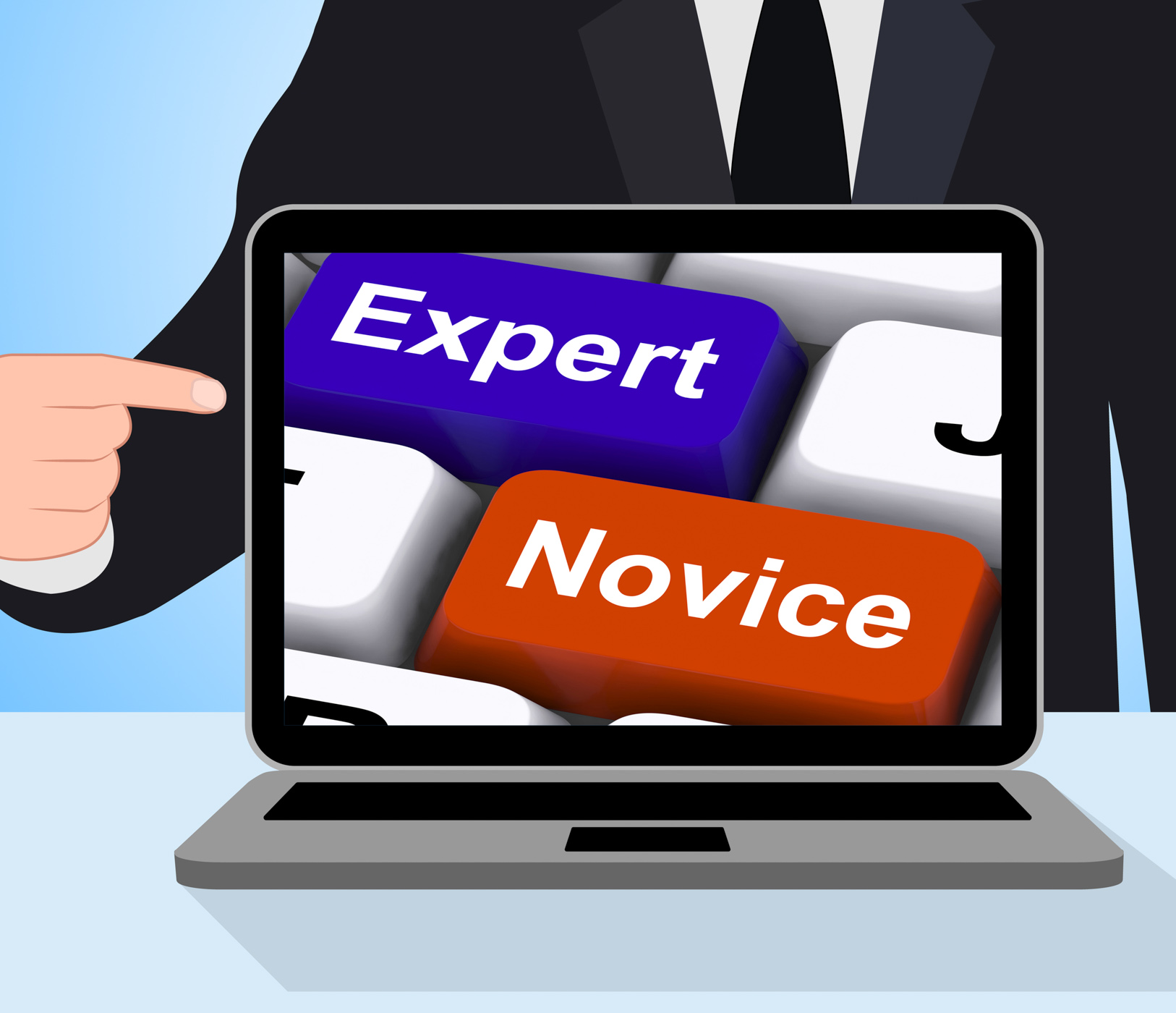 Expert novice keys displays beginners and experts photo