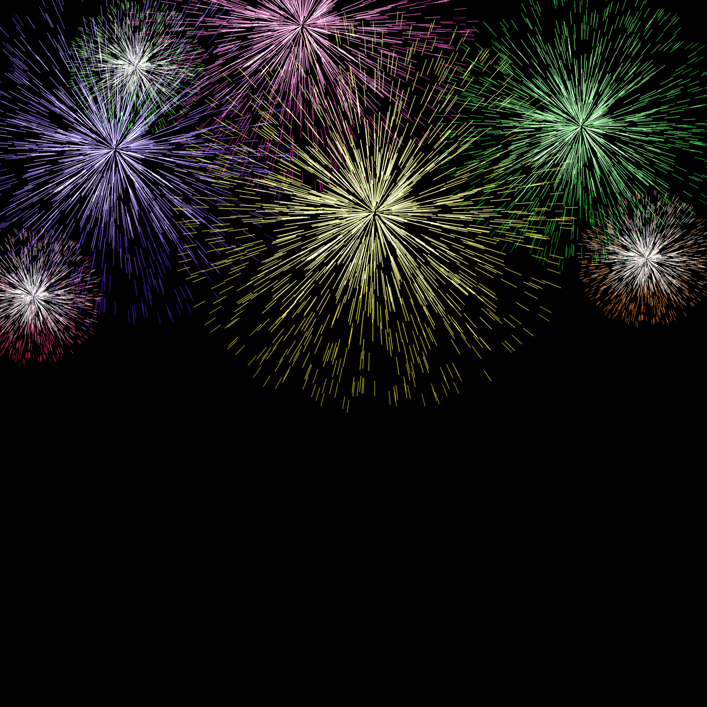Exploding fireworks background for new years or independence celebrati photo