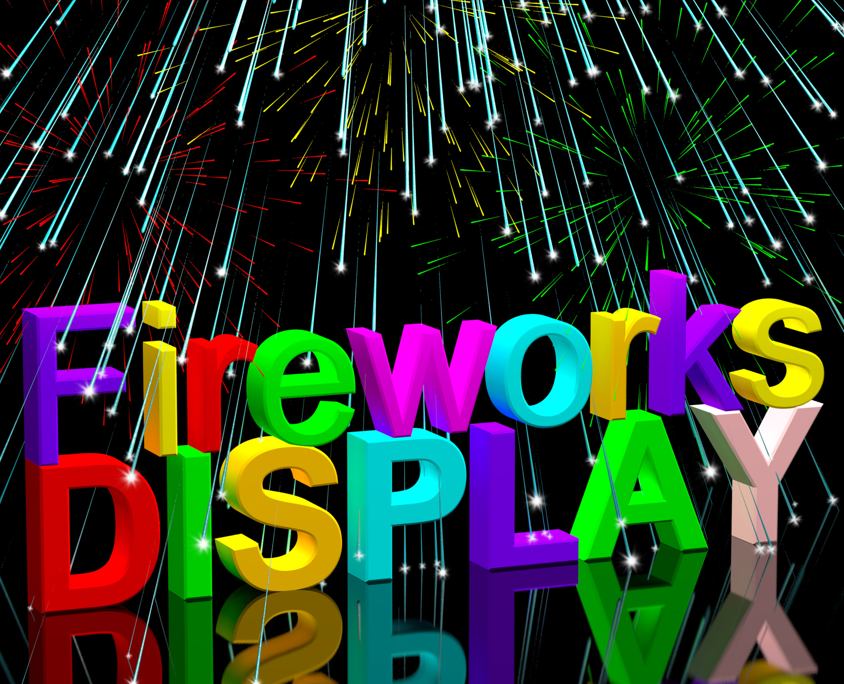 Exploding fireworks display for new years or independance celebrations photo