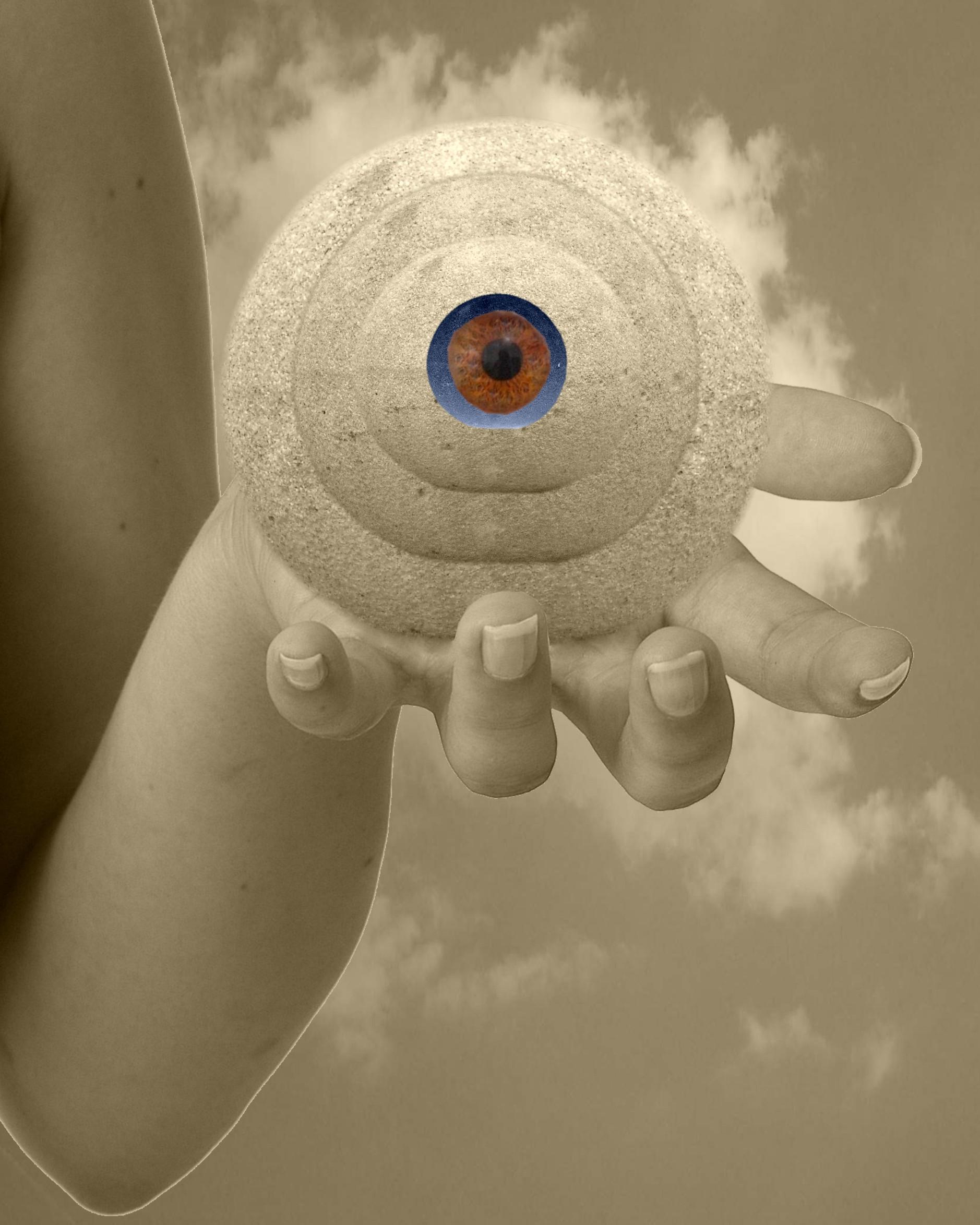 Eye, Iris, Rounded, Sepia, Holding, HQ Photo