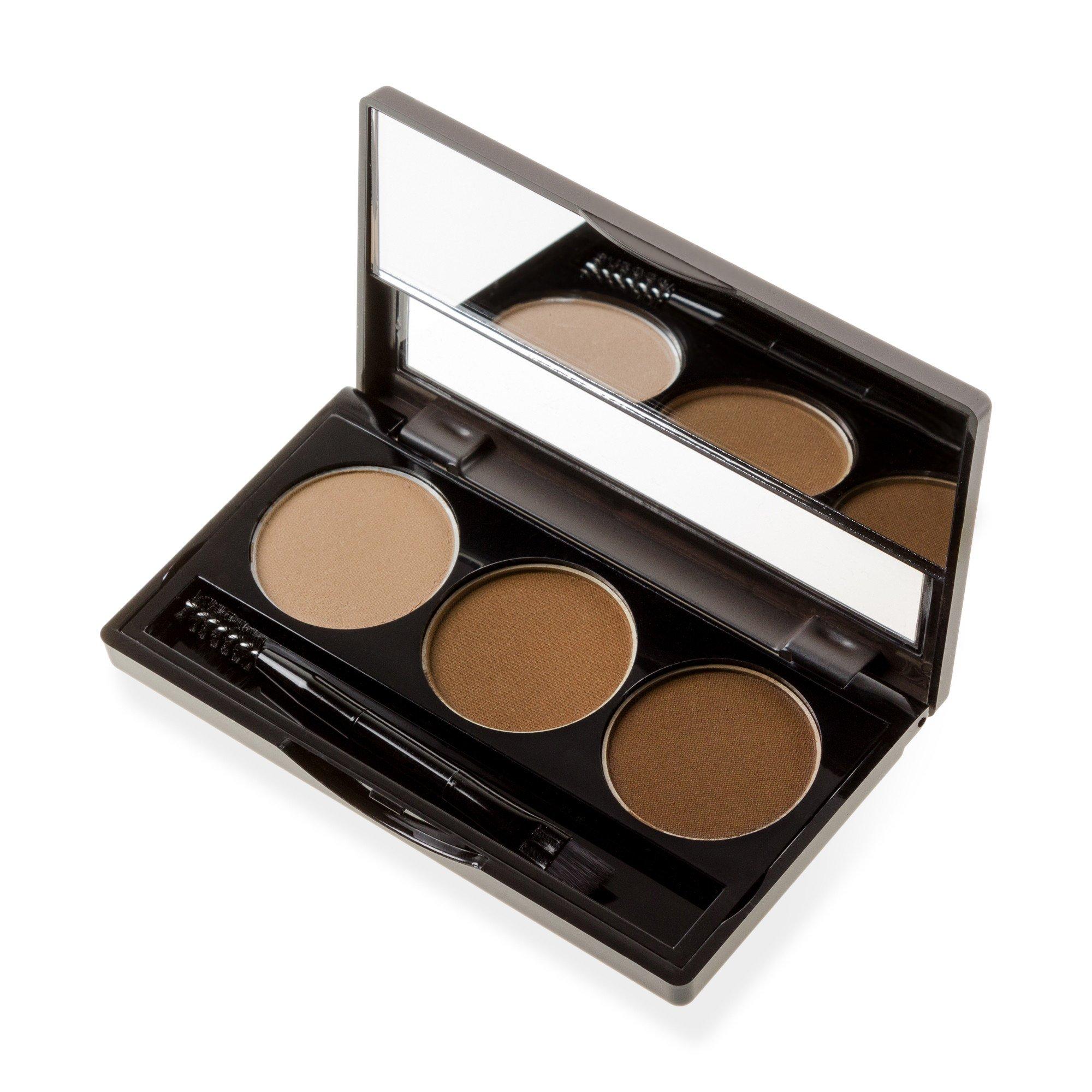 Beau Kiss Eyebrow Powder Shadow Palette 3-Colors Waterproof Makeup ...