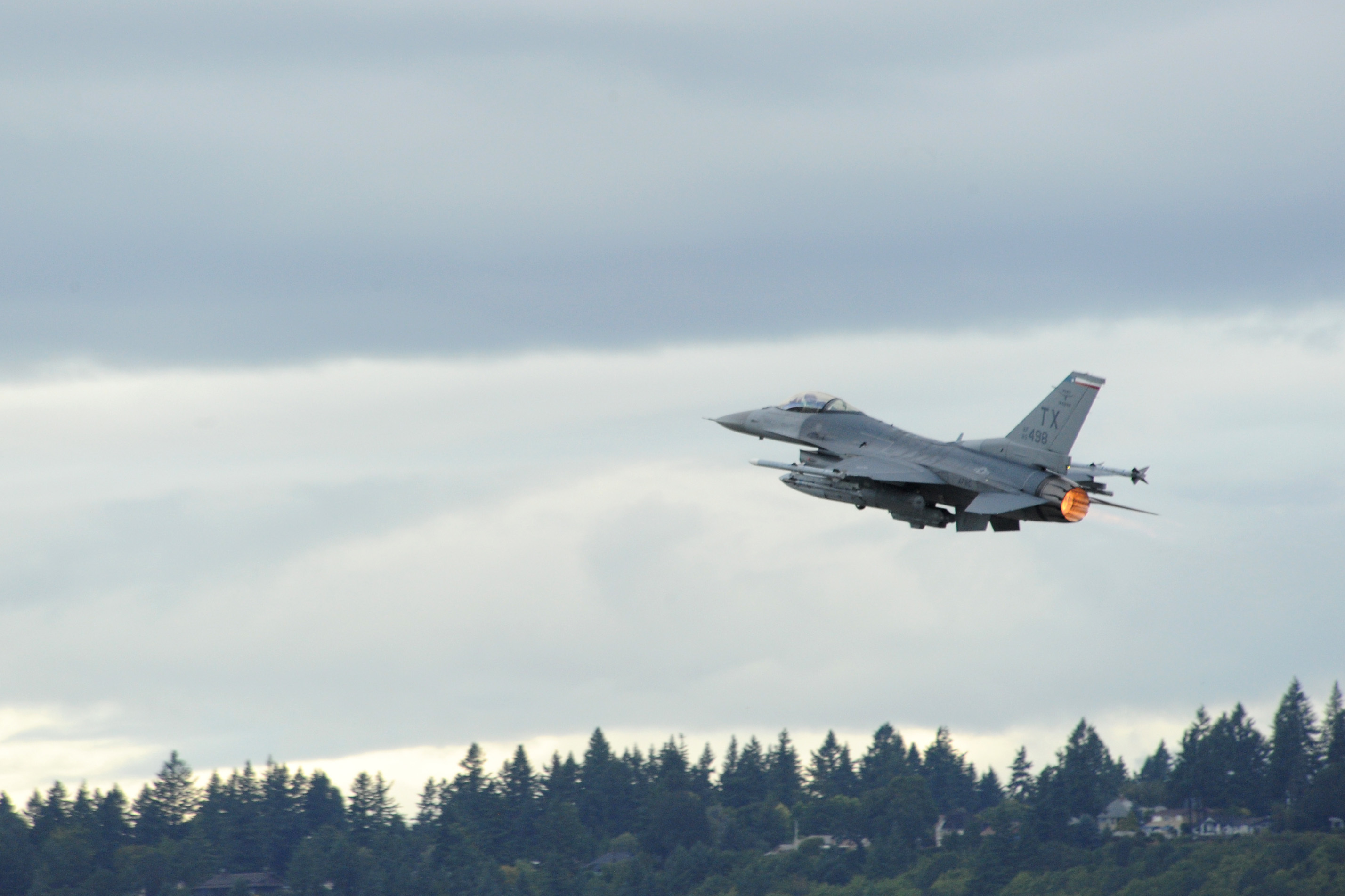 Free photo: F-16 Fighting Falcon - Takeoff, War, Jet - Free Download