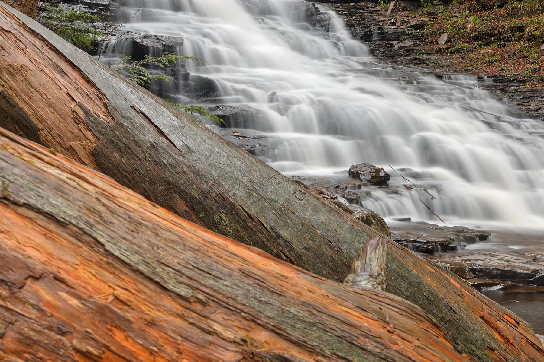 F.l. ricketts log falls - hdr photo