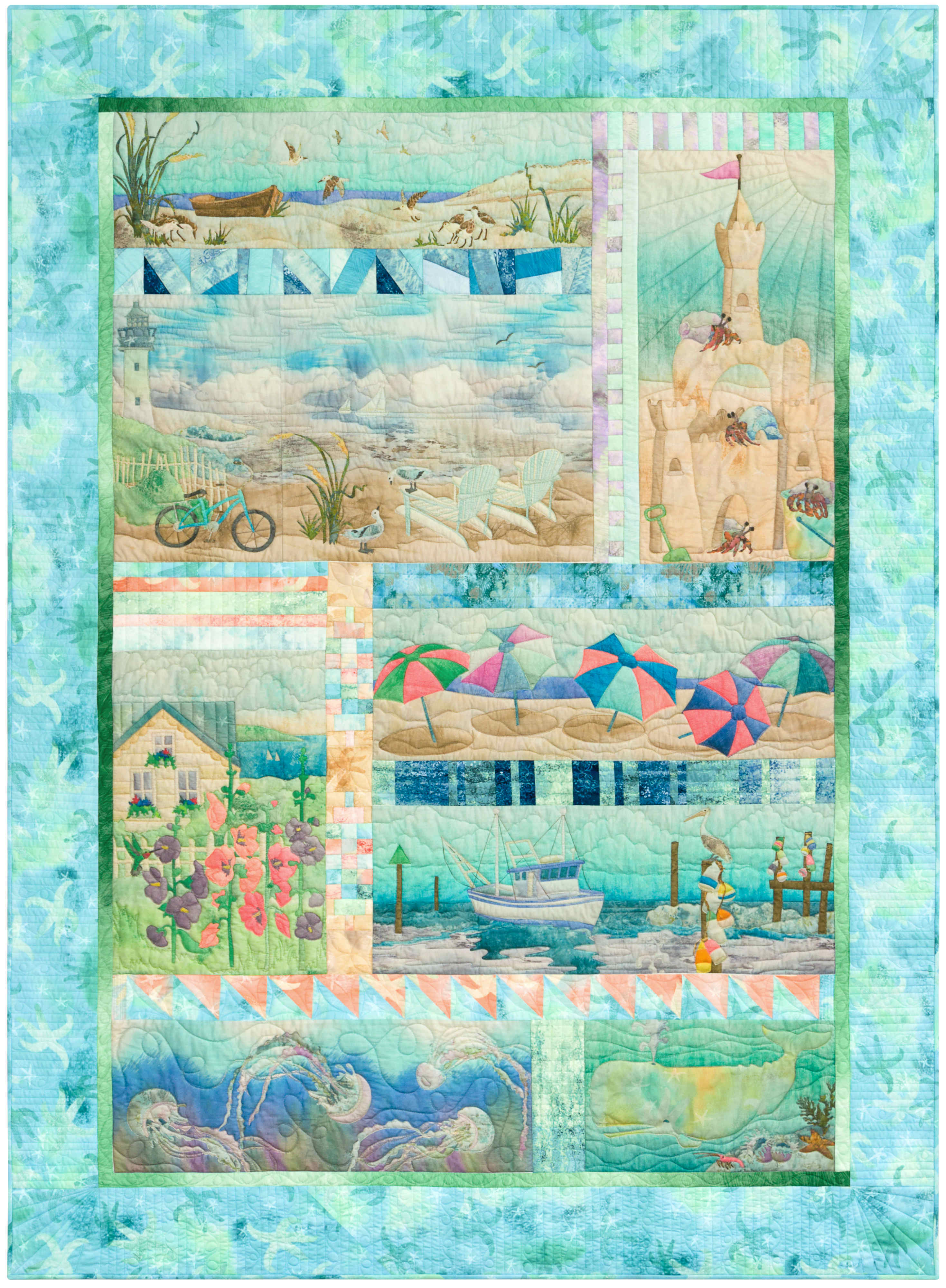 Truly McKenna Fabric Art Panels   Fabric Art Prints and Free Quilt ...