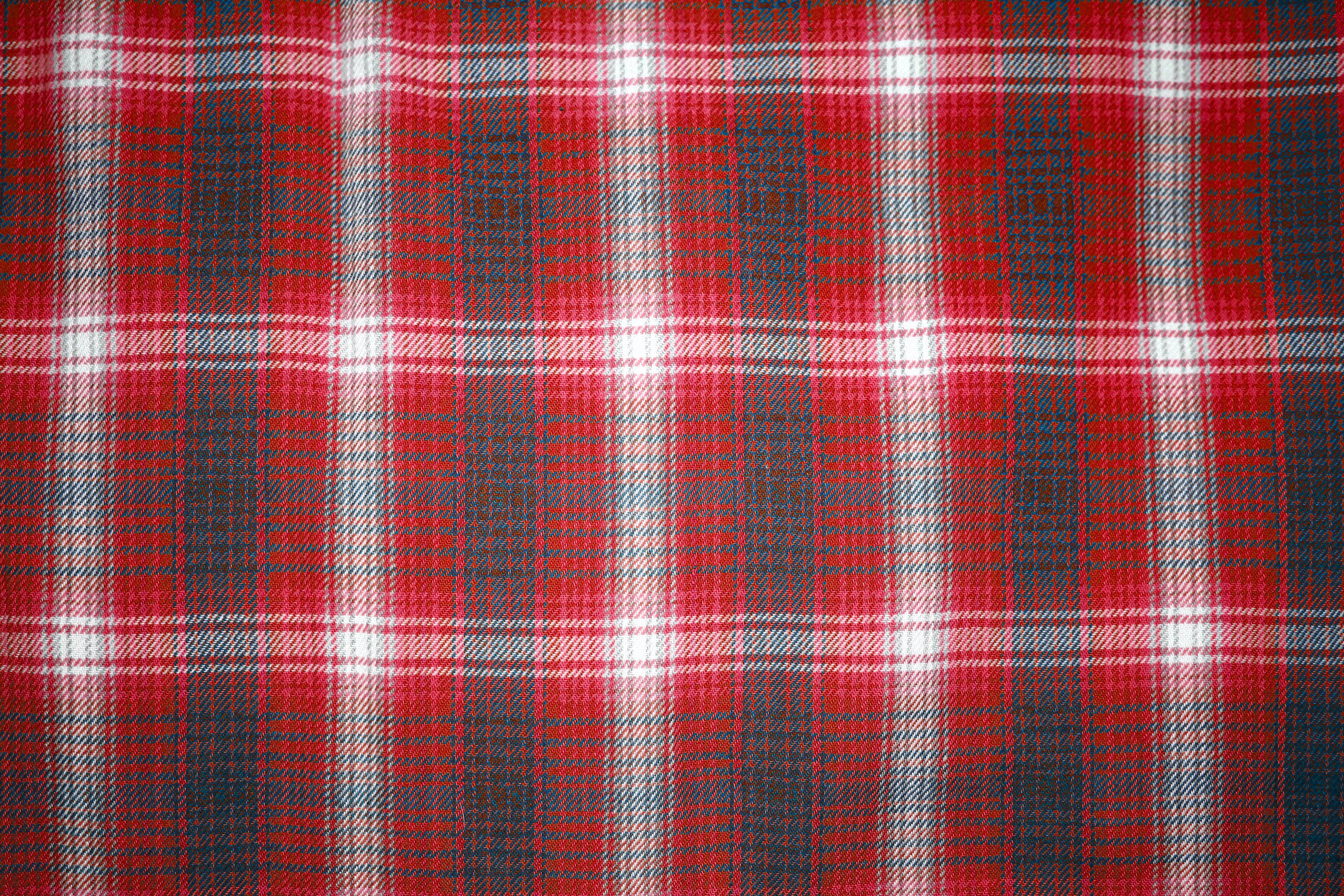 Red and Blue Plaid Fabric Close Up Texture Picture | Free Photograph ...
