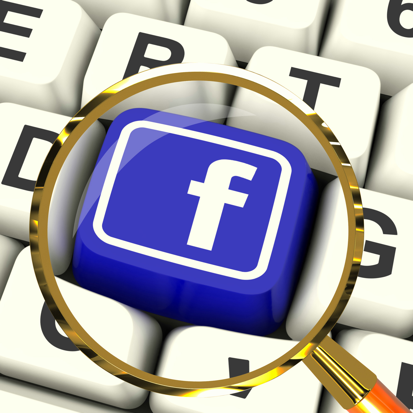 Facebook key magnified means connect to face book photo