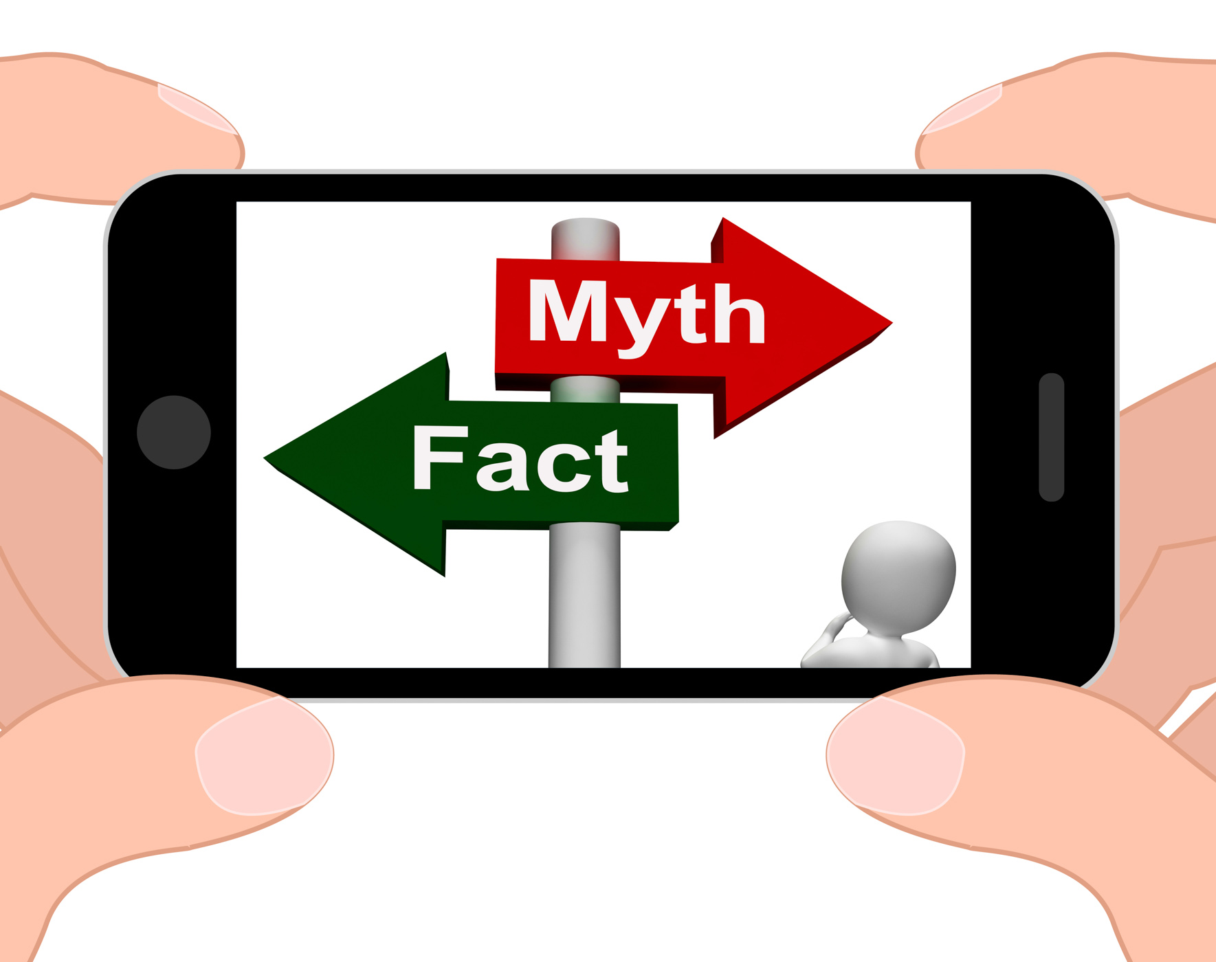 Fact Myth Signpost Displays Facts Or Mythology, 3d, Phone, Web, Truth, HQ Photo