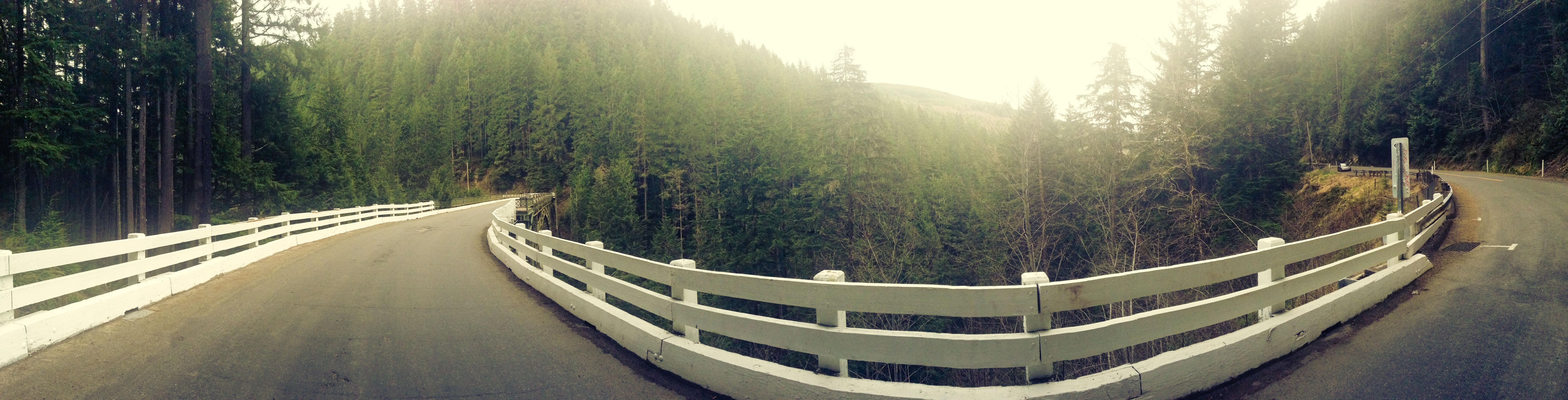 Fairfax Bridge road panorama, Architecture, Bridge, Forest, Nature, HQ Photo