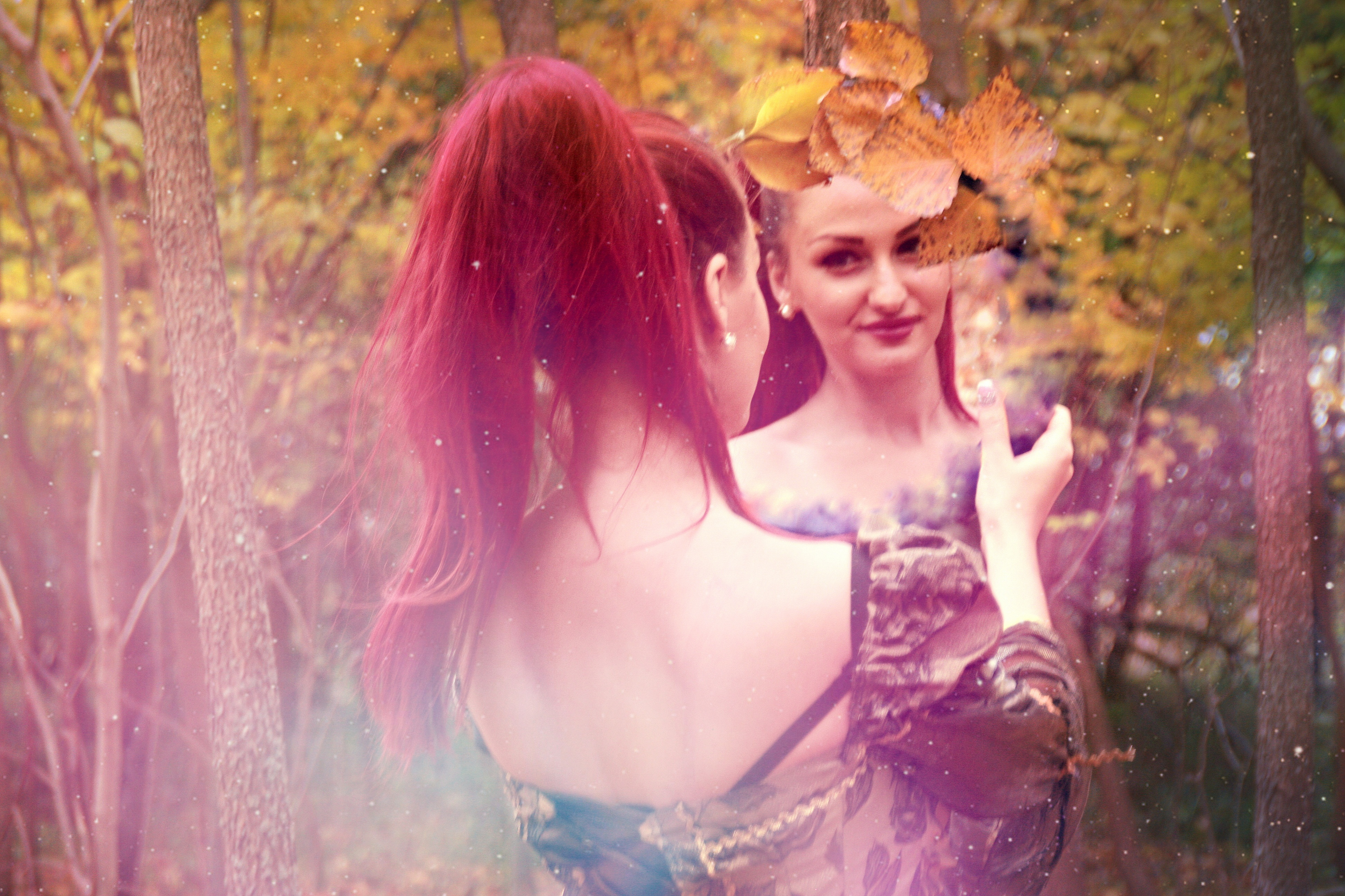 Fairy Land, reflection, mirror, girl, beauty, HQ Photo